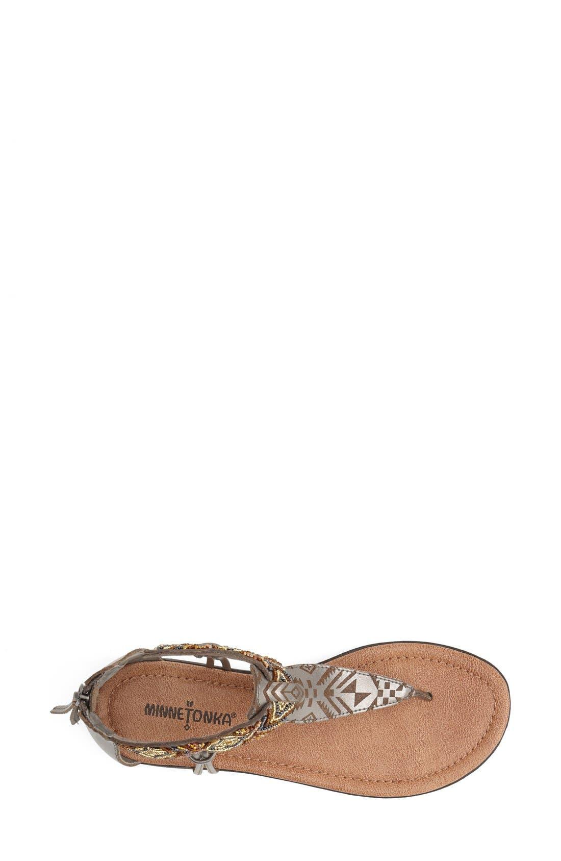 Alternate Image 3  - Minnetonka 'Antigua' Beaded Thong Sandal (Women)