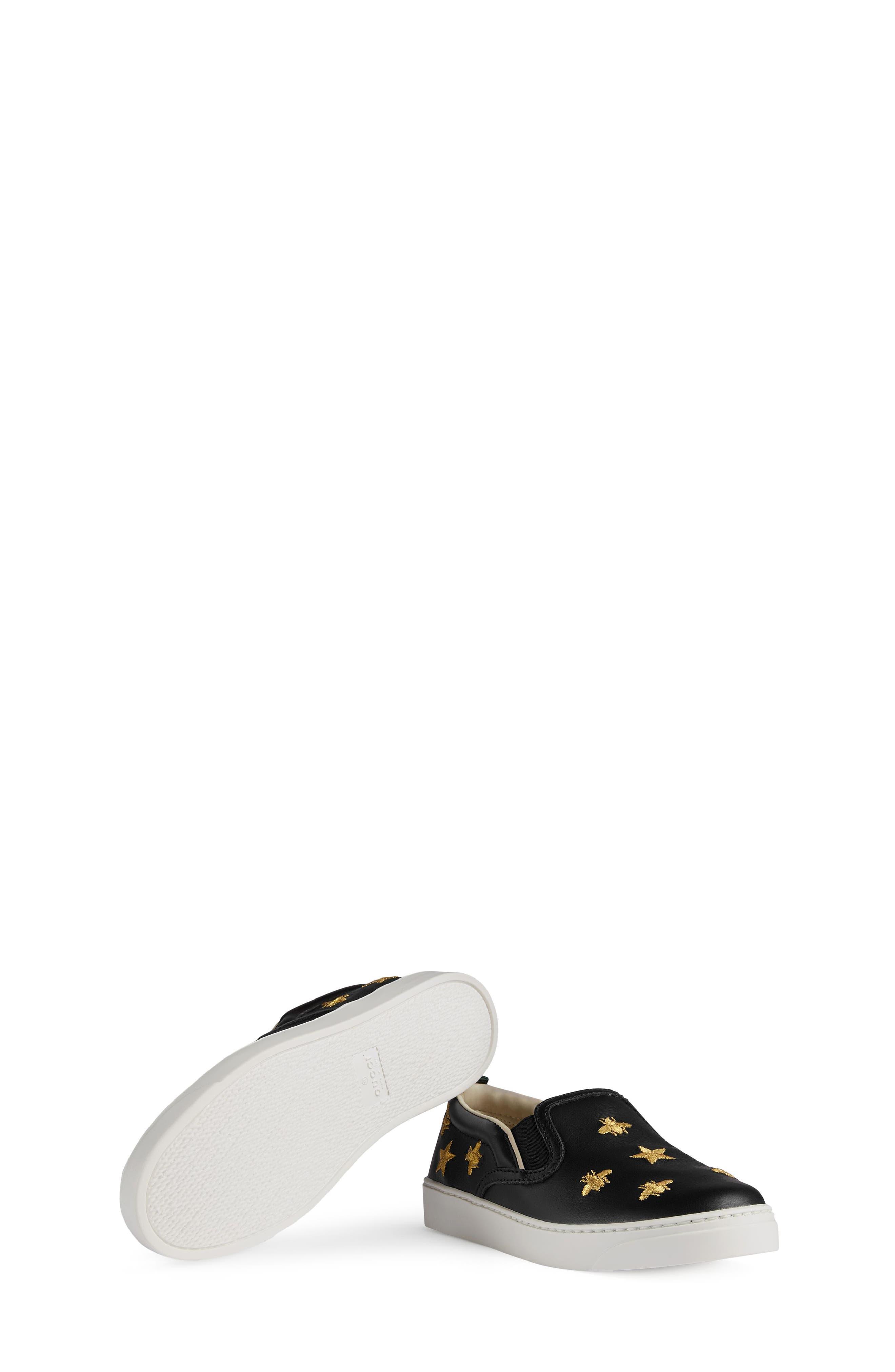 Dublin Bees and Stars Slip-On Sneaker,                             Alternate thumbnail 3, color,                             Black/Gold Stars