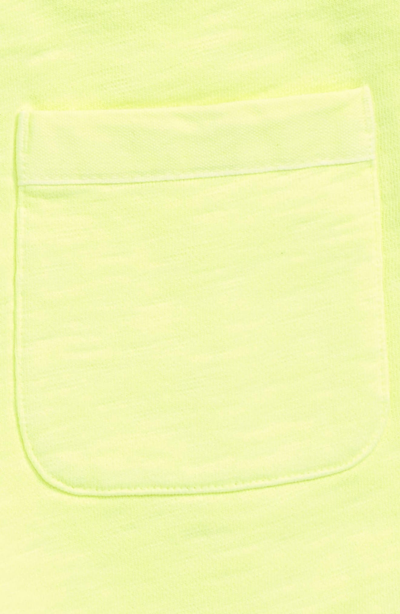 Garment Dyed Sweatshorts,                             Alternate thumbnail 3, color,                             Acid Yellow