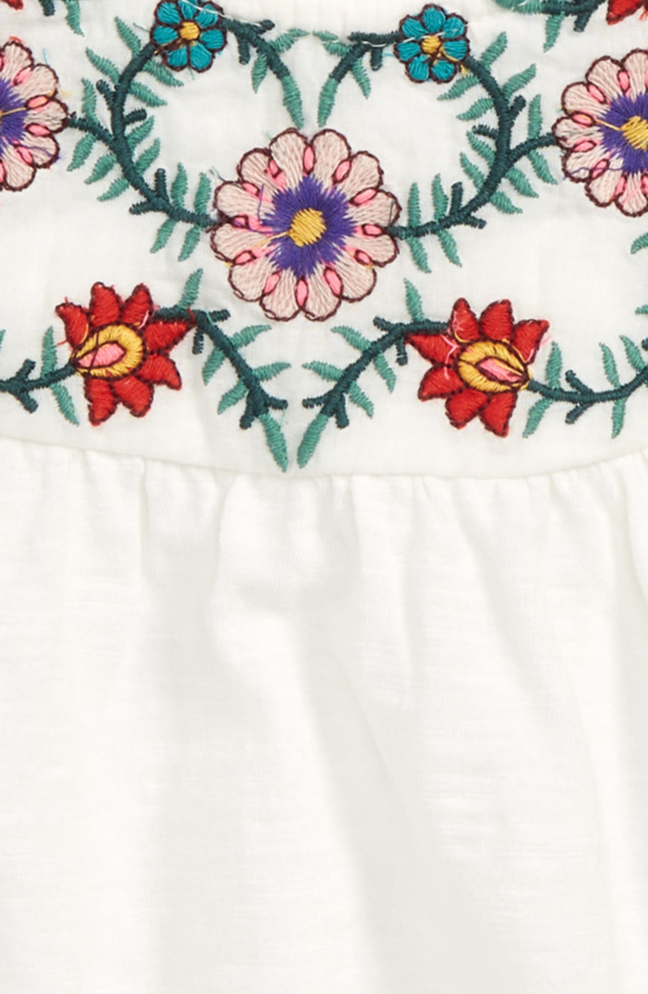 Stella Embroidered Peasant Top,                             Alternate thumbnail 2, color,                             Ivory