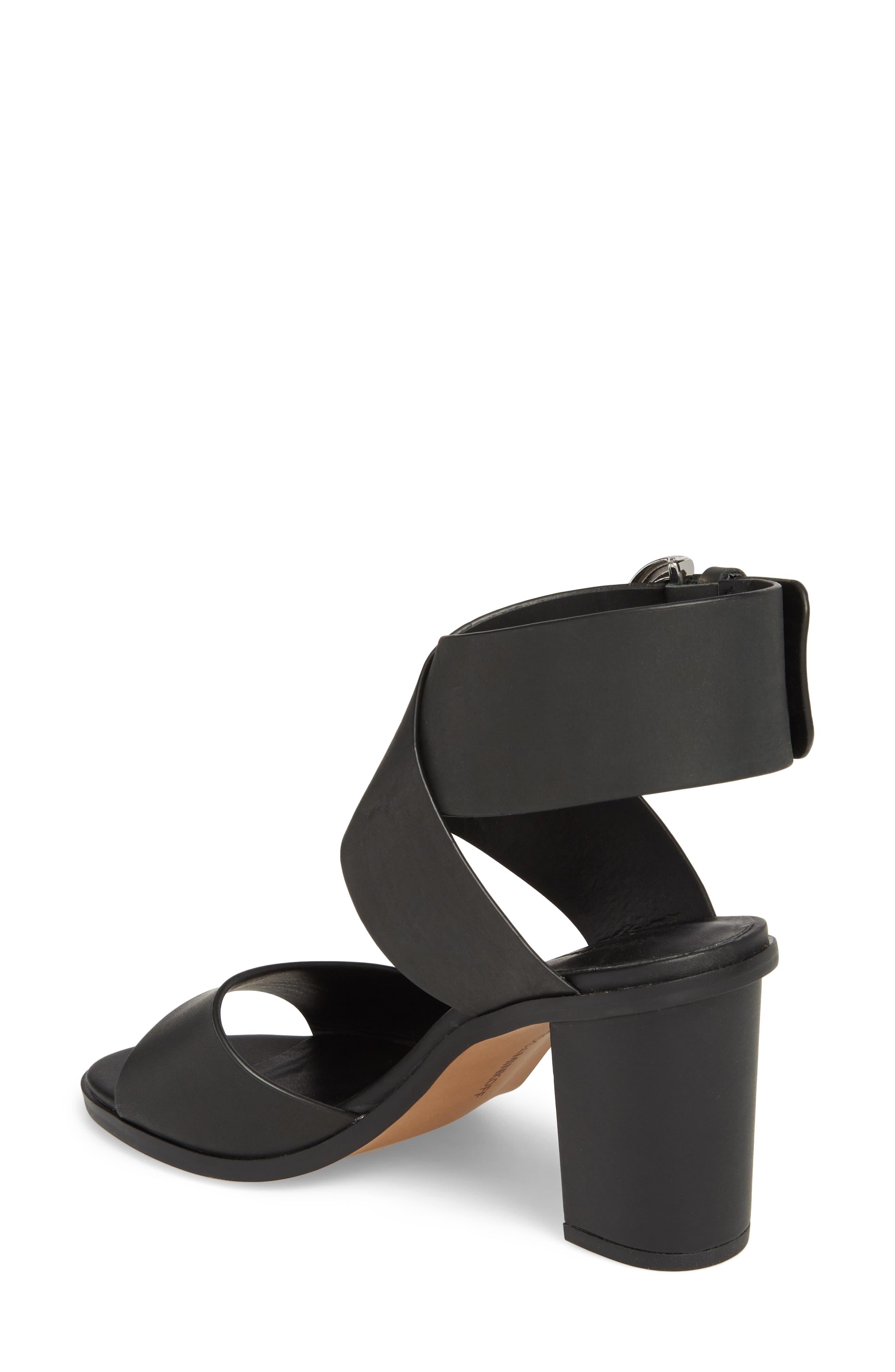 Valaree Sandal,                             Alternate thumbnail 2, color,                             Black Leather