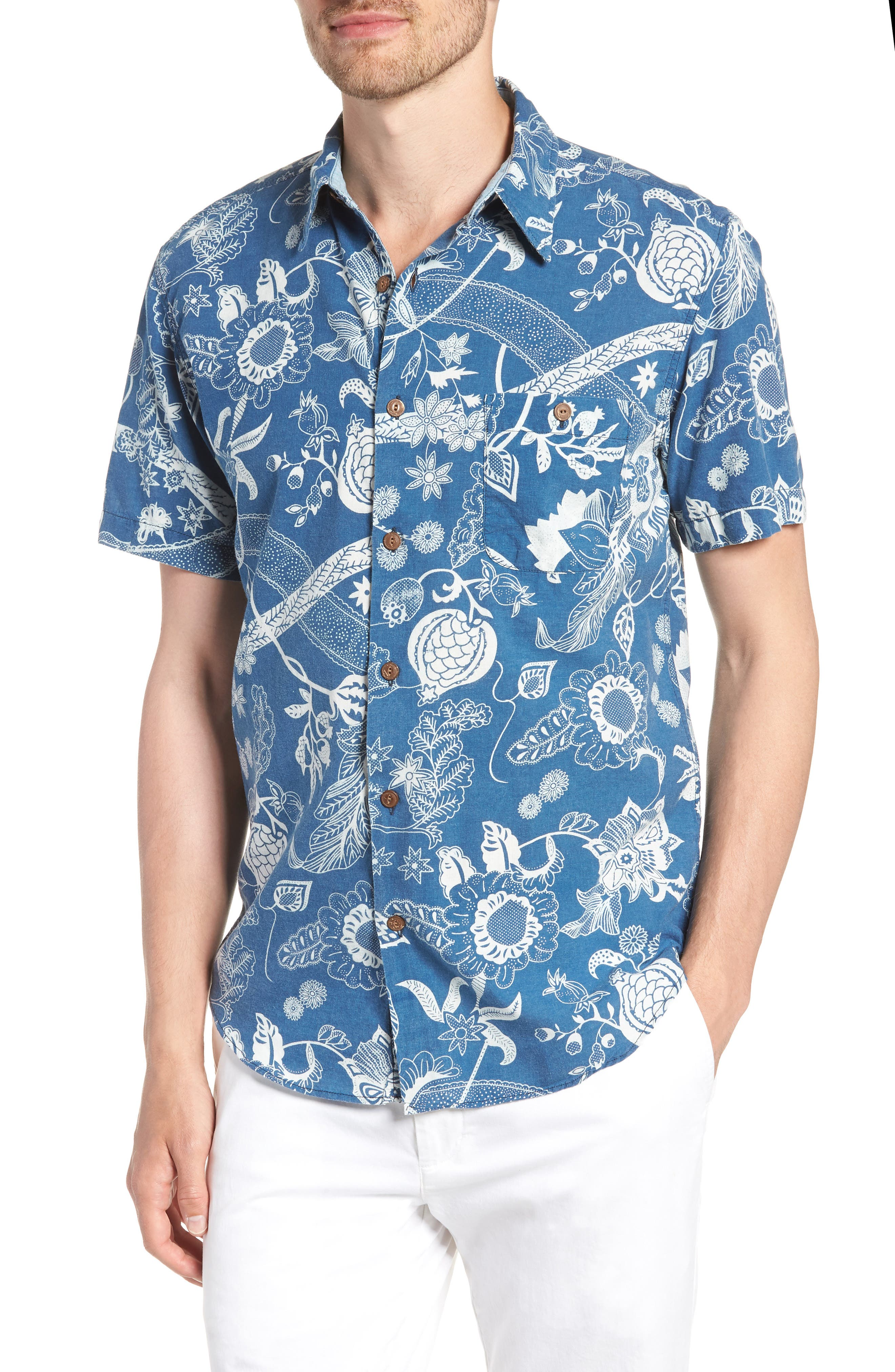 Coast Floral Sport Shirt,                             Main thumbnail 1, color,                             Kenji Floral