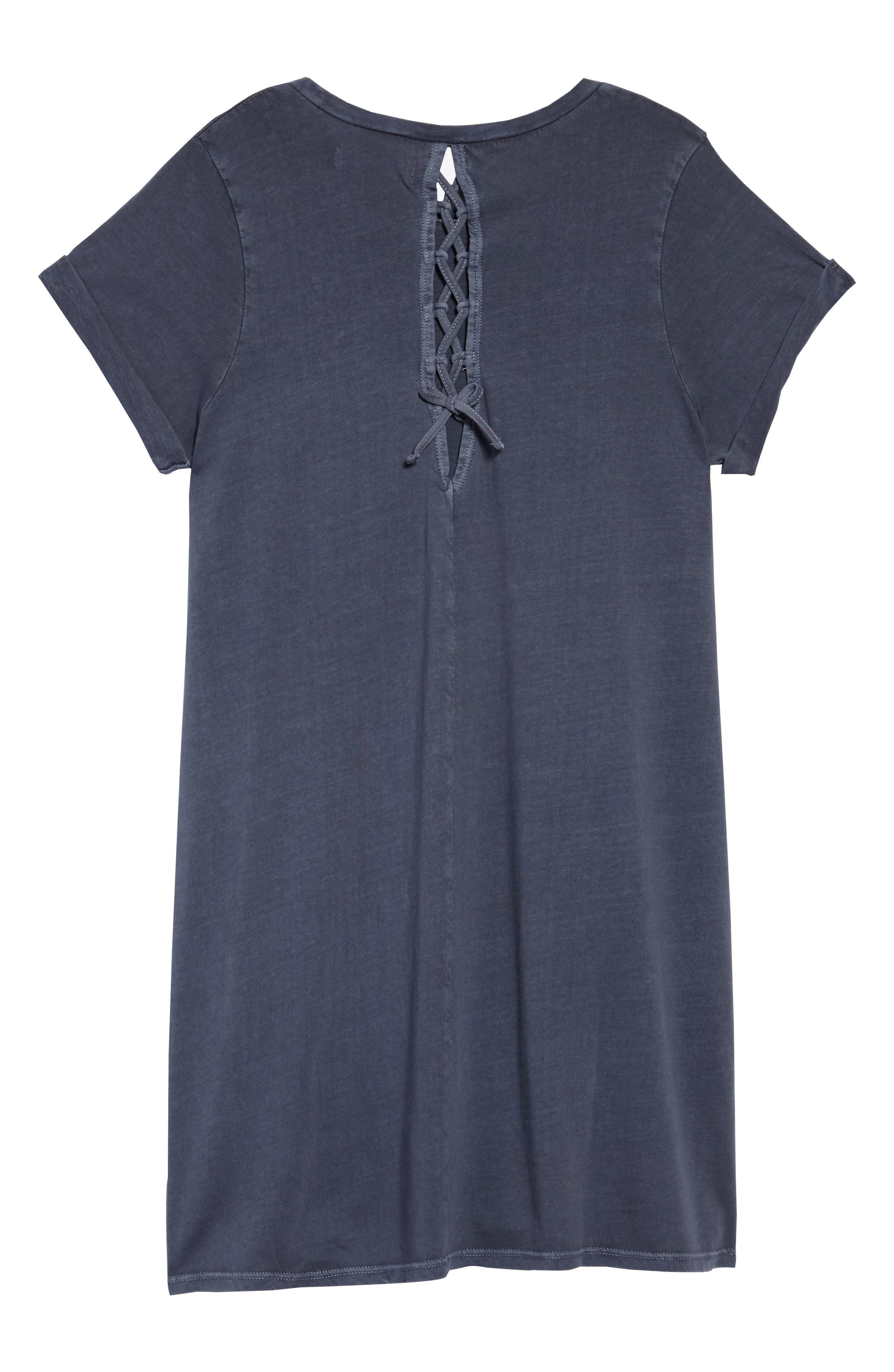 Washed T-Shirt Dress,                             Alternate thumbnail 2, color,                             Navy Armada