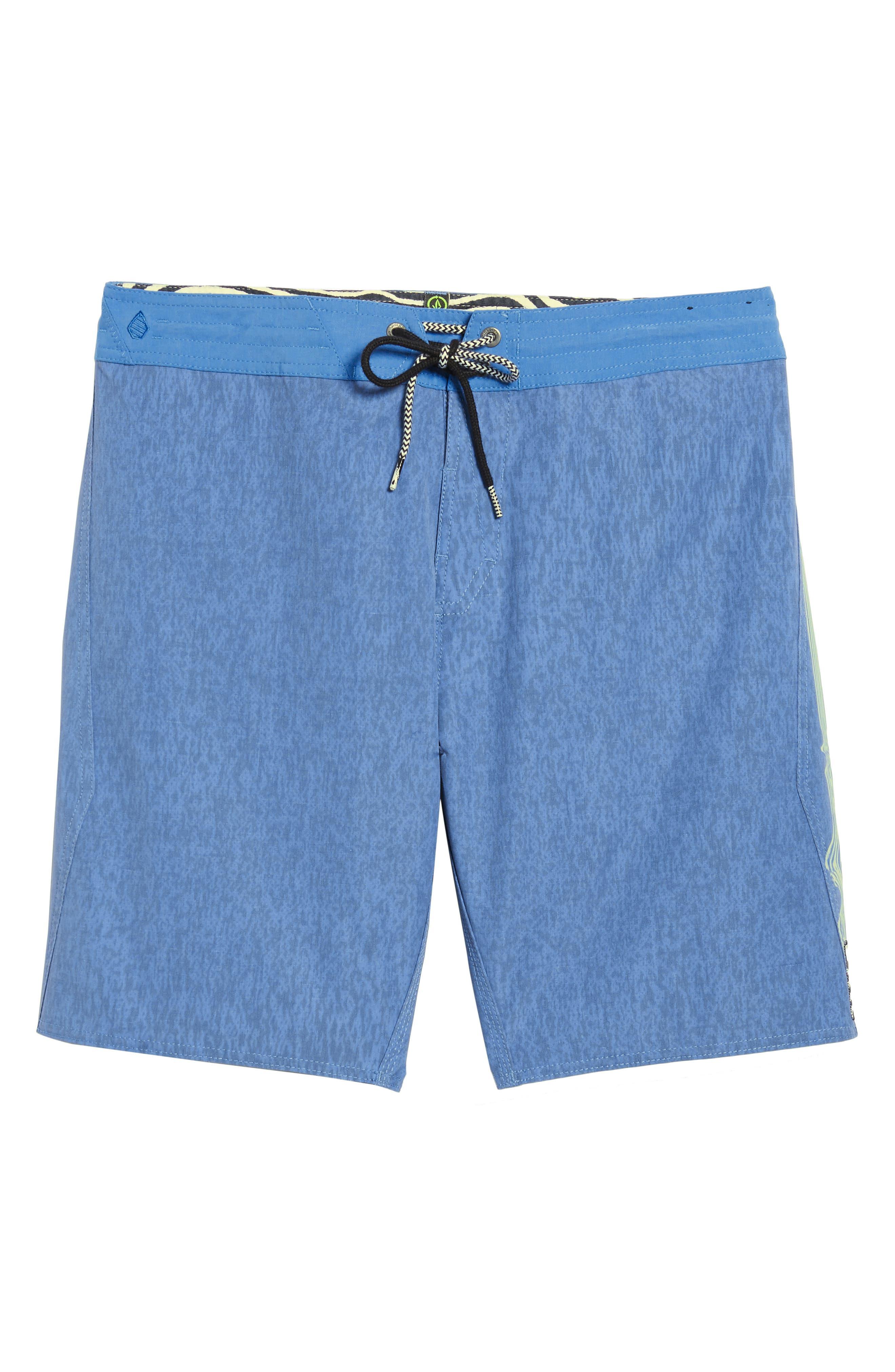 Side Fi Stoney Board Shorts,                             Alternate thumbnail 6, color,                             Blue Free