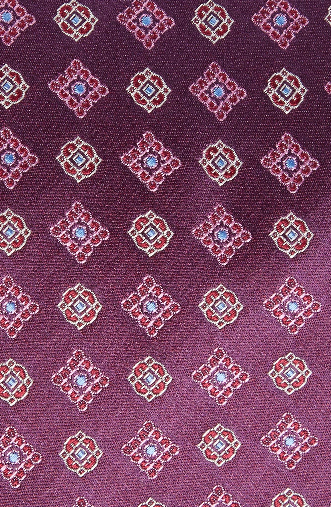 Neat Silk Tie,                             Alternate thumbnail 2, color,                             Purple