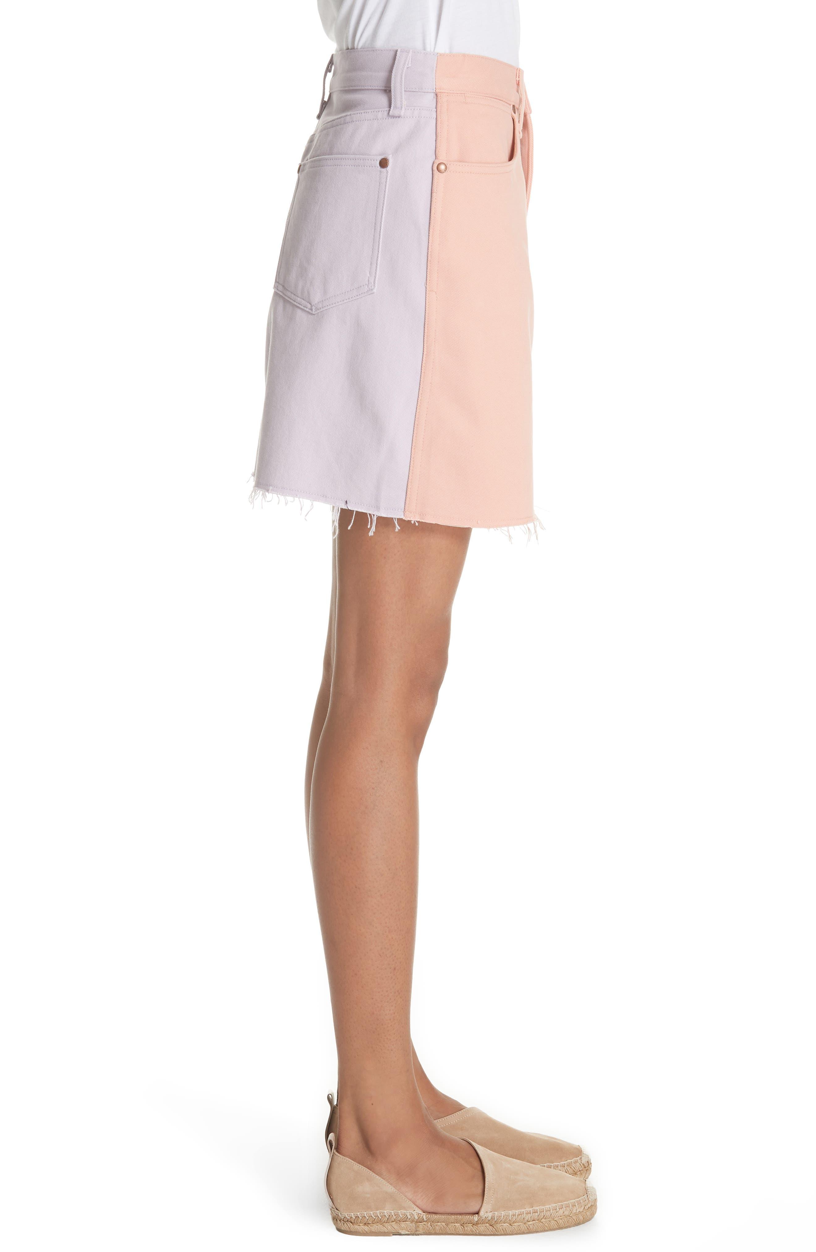 Moss Skirt,                             Alternate thumbnail 3, color,                             Peach/ Lilac