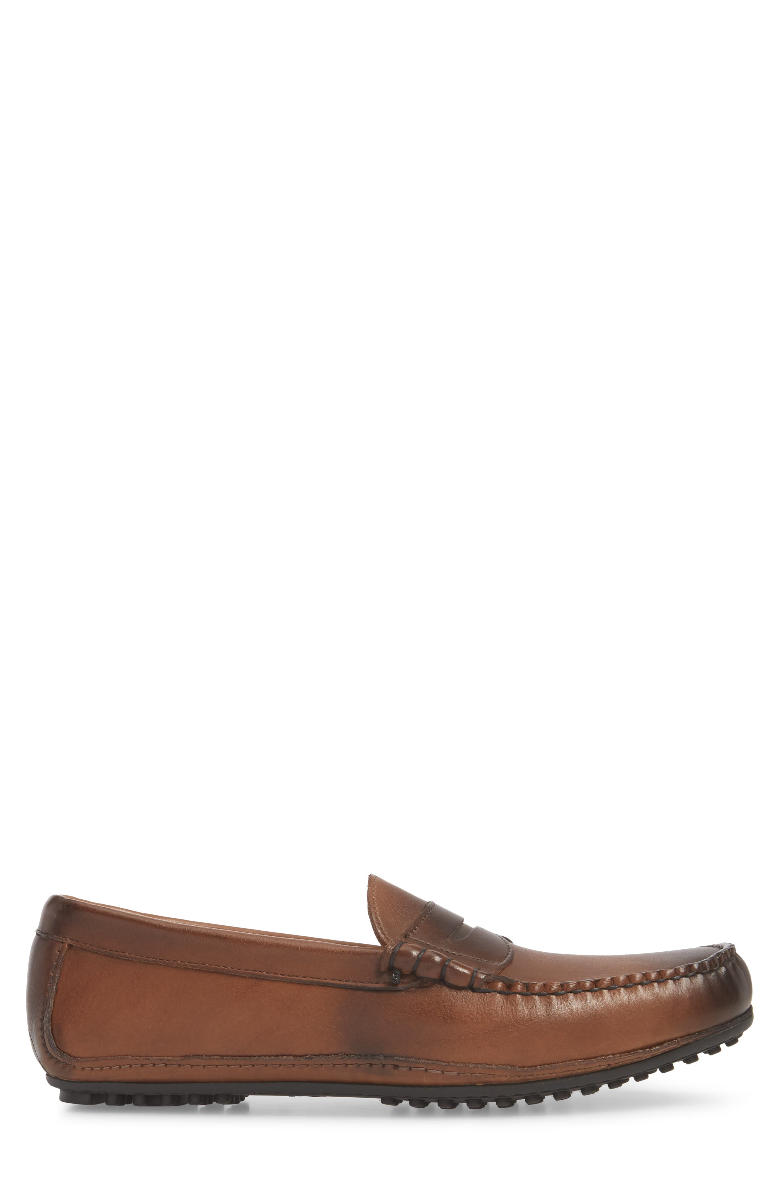 Siesta Key Penny Loafer,                             Alternate thumbnail 3, color,                             Brown Leather