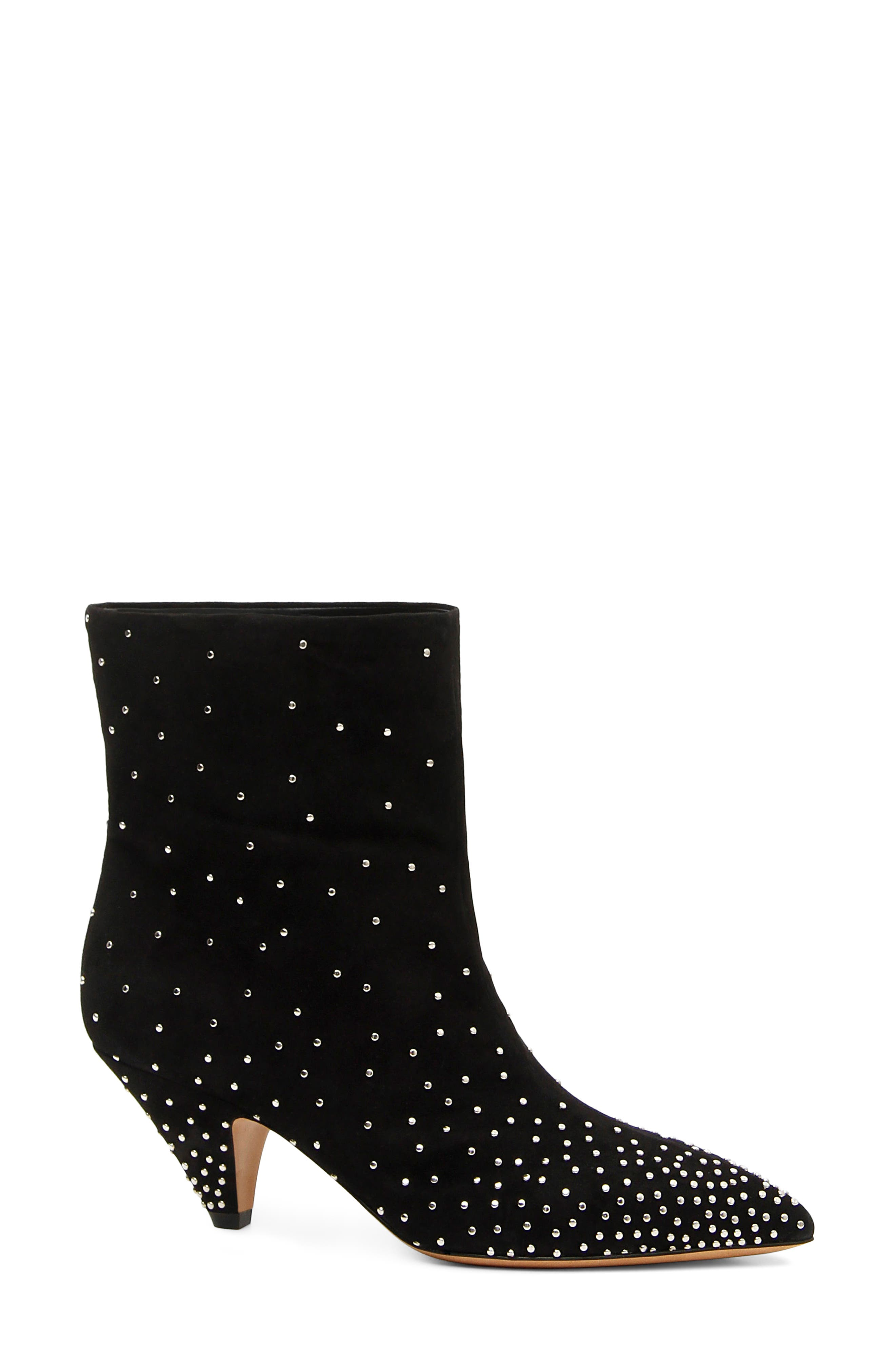 Studded Ankle Boots in Black