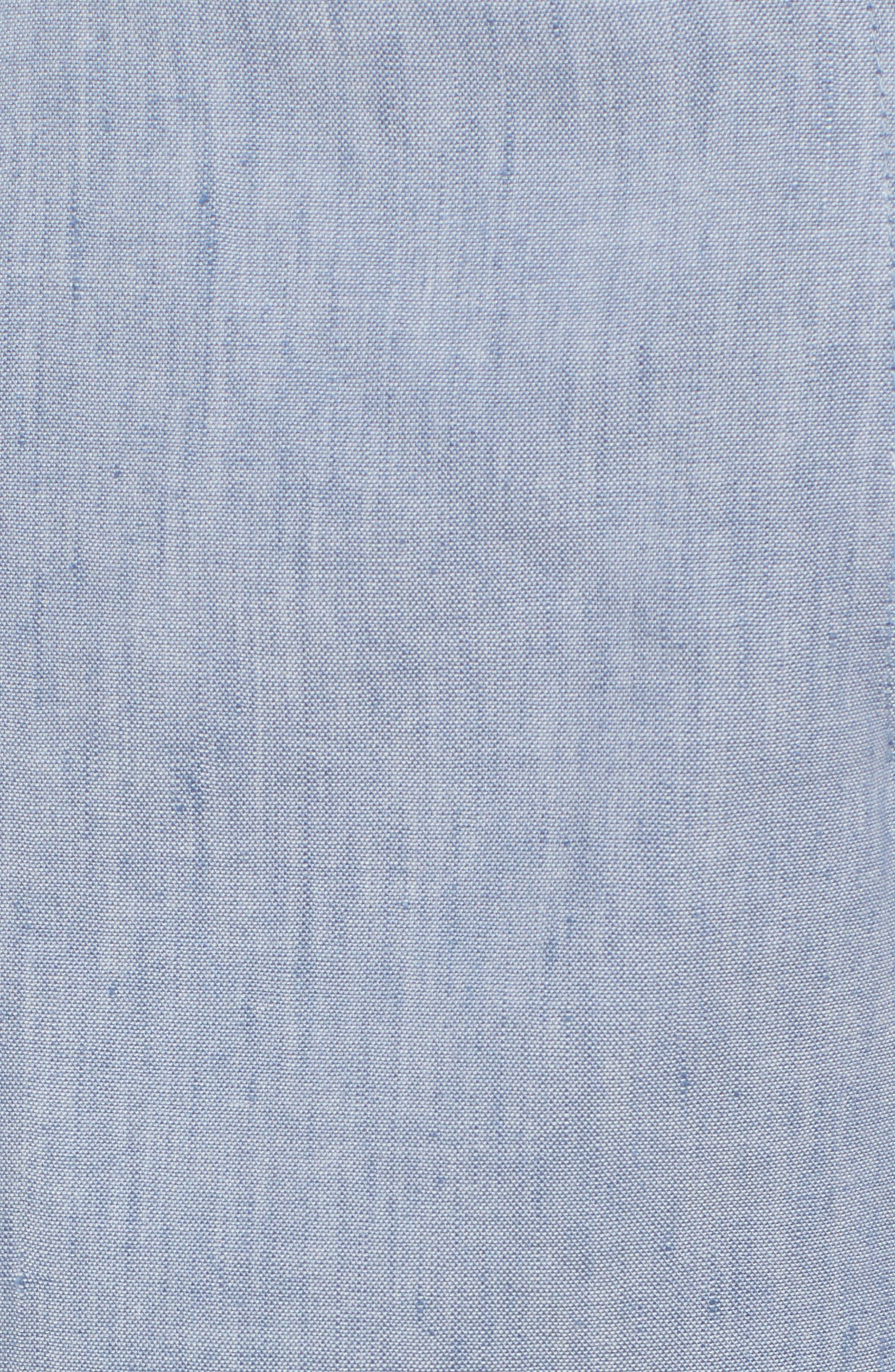 Wide Leg Linen Blend Pants,                             Alternate thumbnail 6, color,                             Chambray