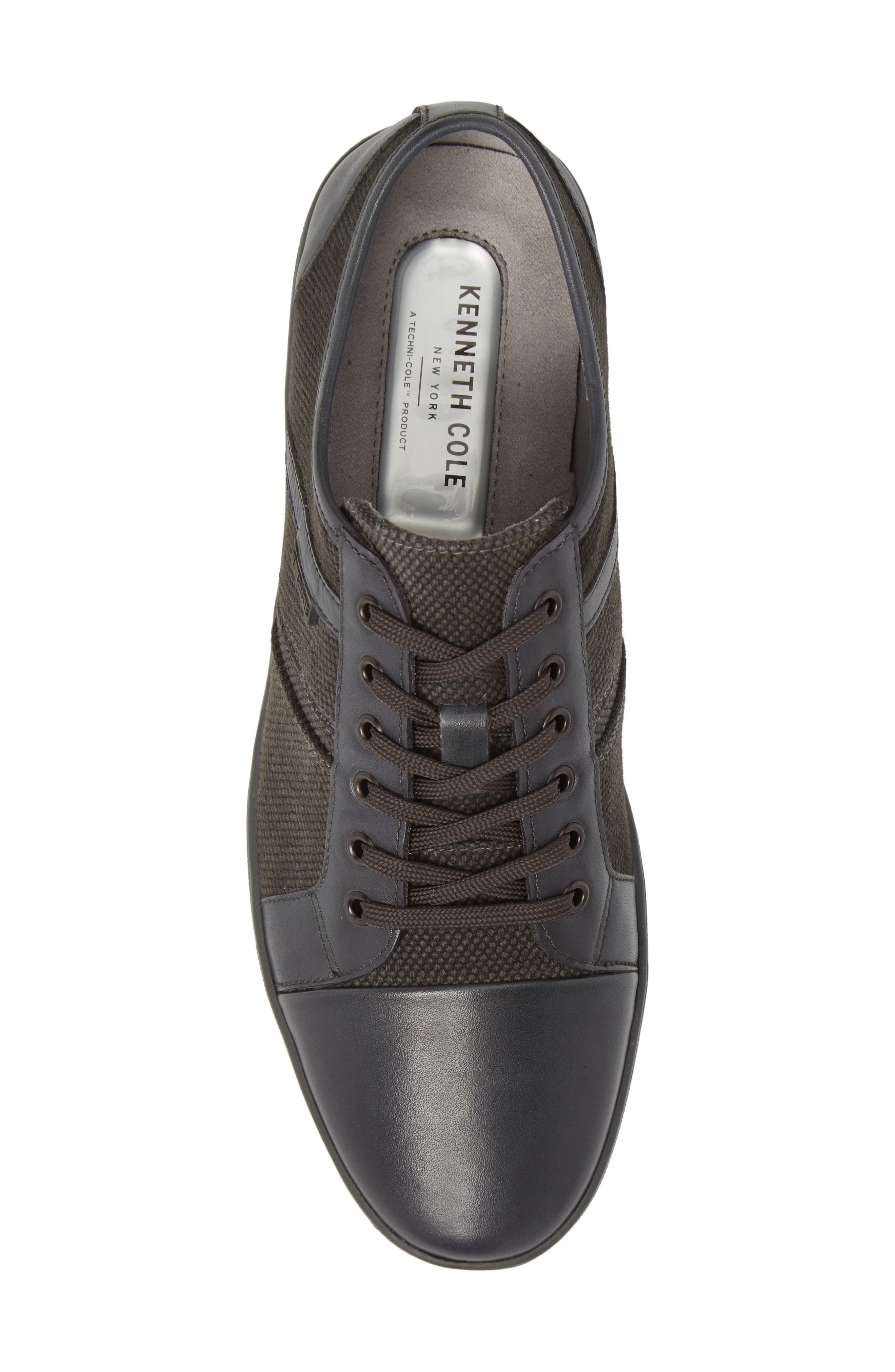 Initial Step Sneaker,                             Alternate thumbnail 5, color,                             Grey Leather/ Textile
