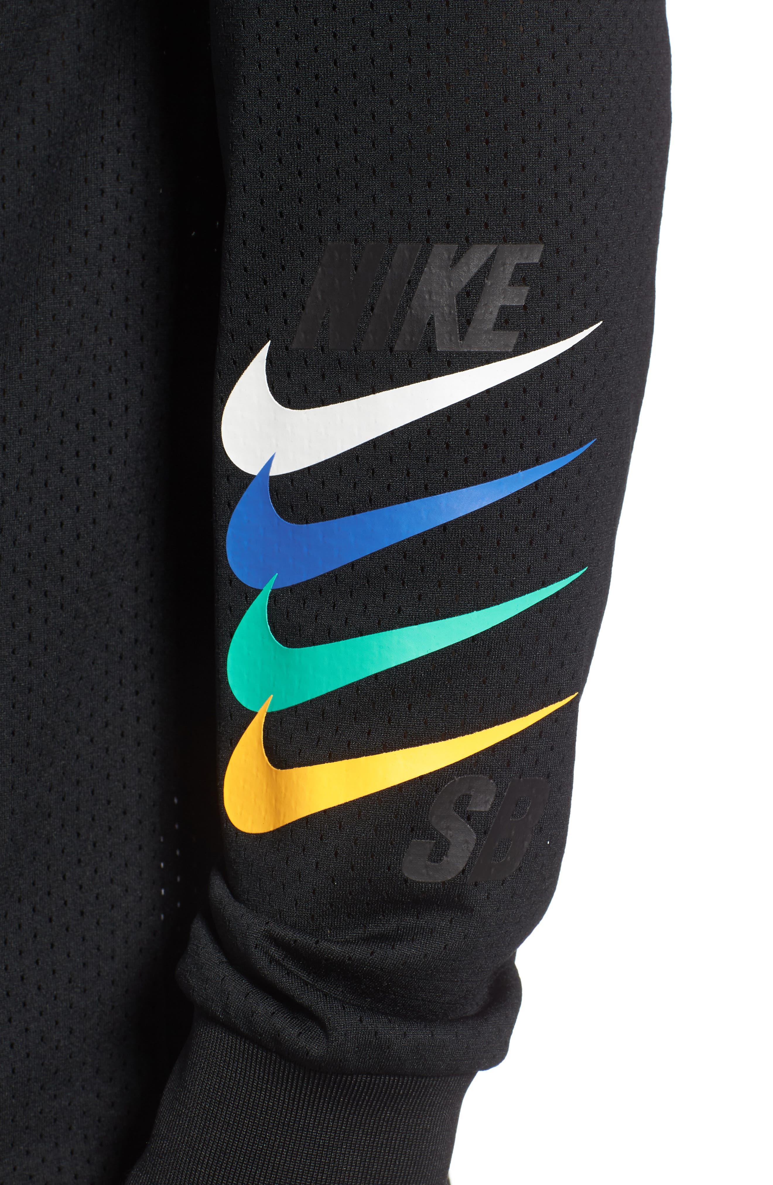 SB Dry GFX Long Sleeve T-Shirt,                             Alternate thumbnail 4, color,                             Black/ Black