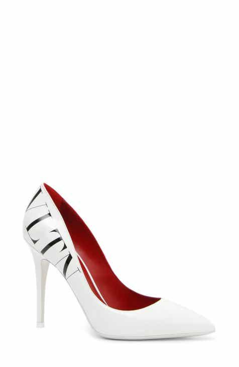 9b4e7cf2136c2 VALENTINO GARAVANI VLTN Logo Pointy Toe Pump (Women)