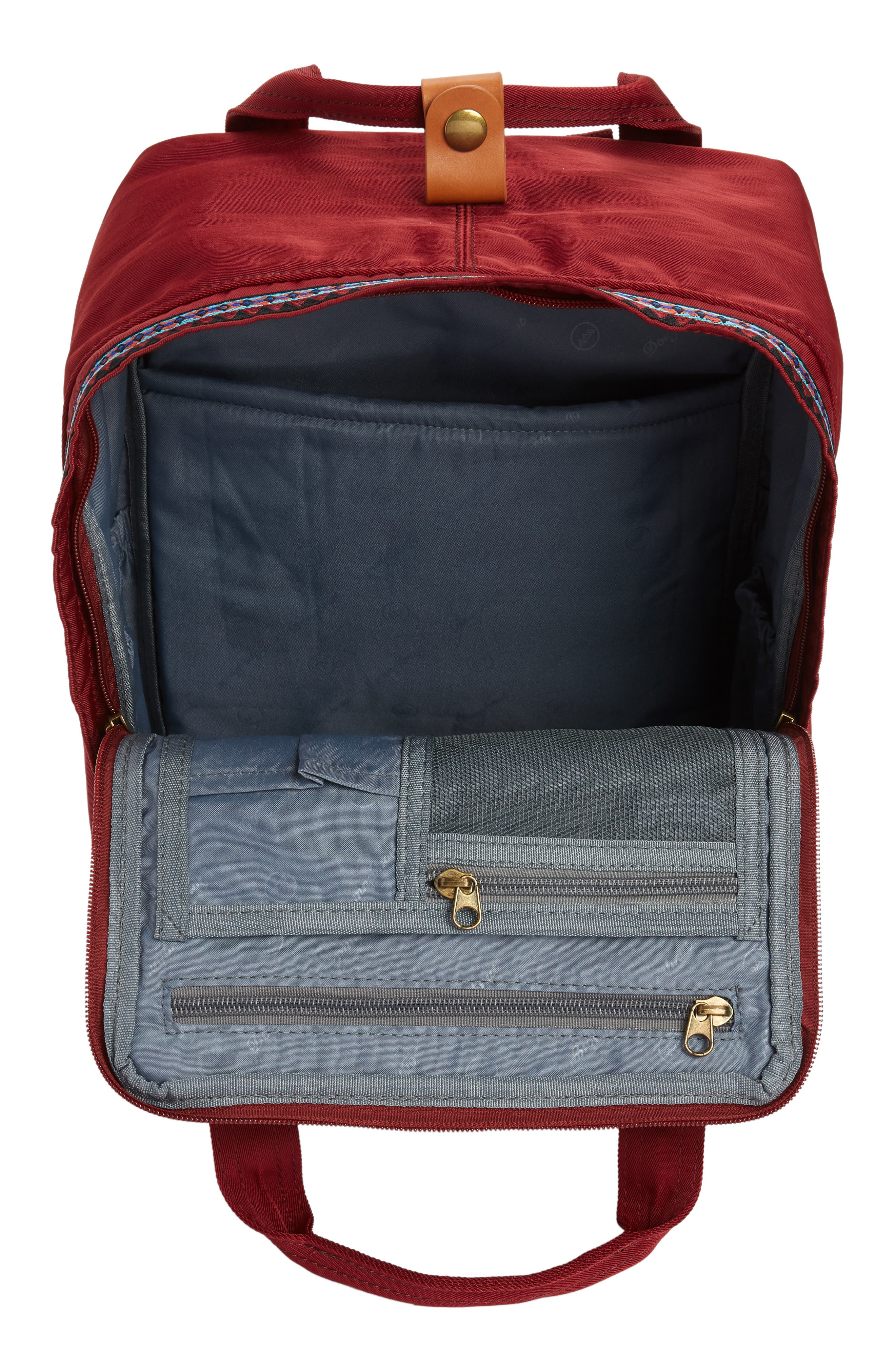 Macaroon Bo-He Water Resistant Backpack,                             Alternate thumbnail 4, color,                             Wine