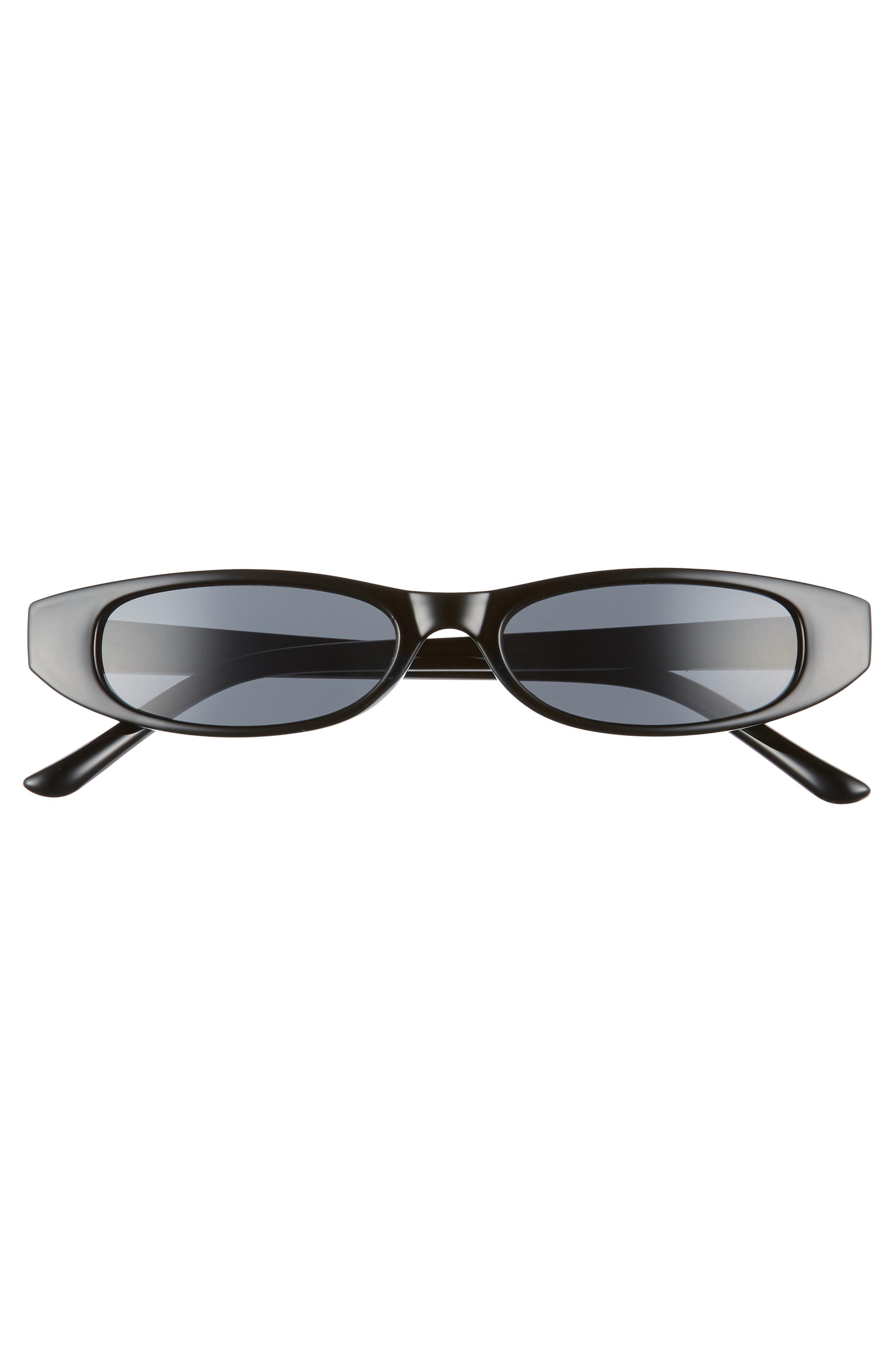 50mm Geometric Sunglasses,                             Alternate thumbnail 3, color,                             Black