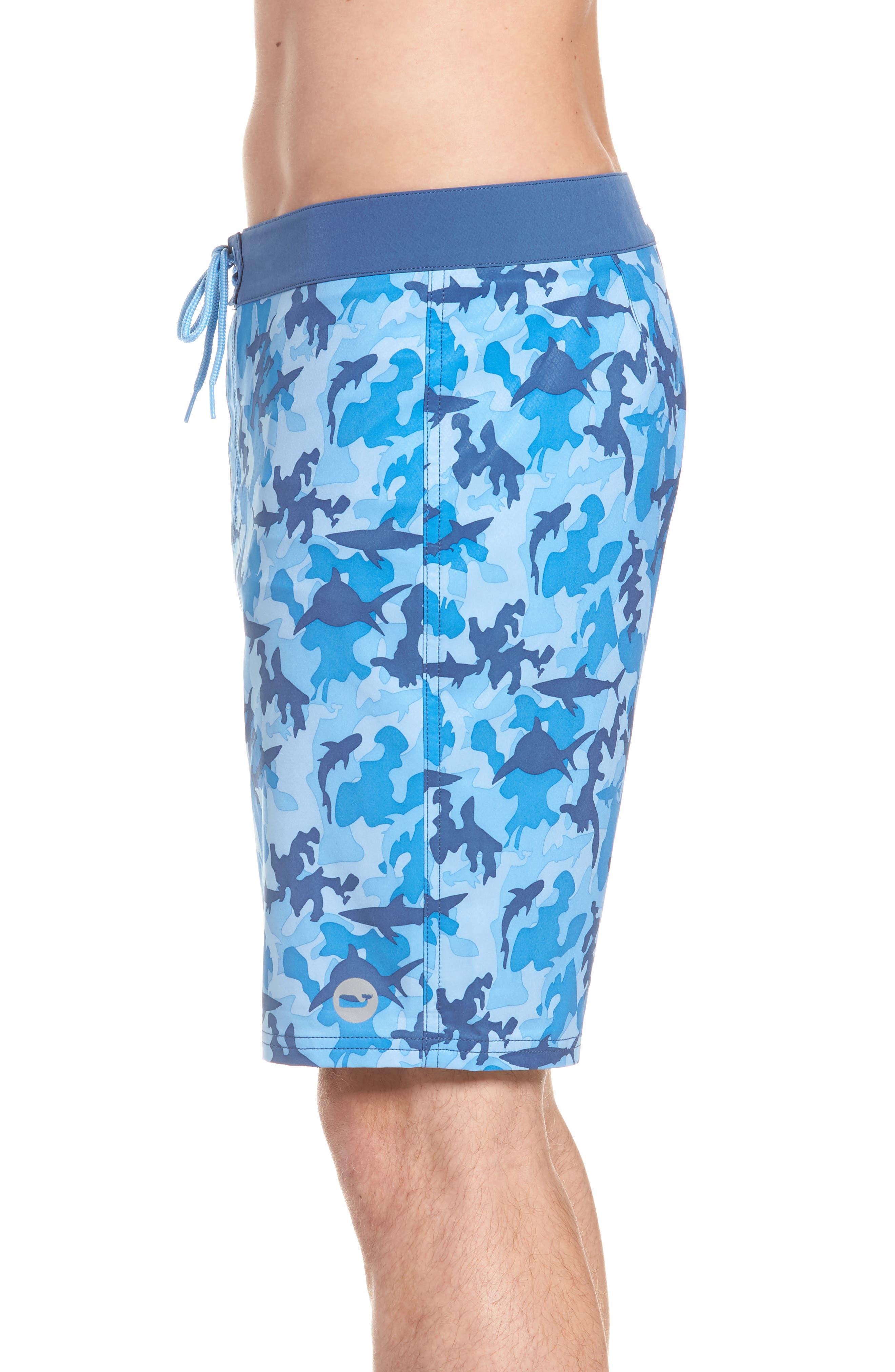 x Shark Week<sup>™</sup> Shark Camo Board Shorts,                             Alternate thumbnail 3, color,                             Hull Blue