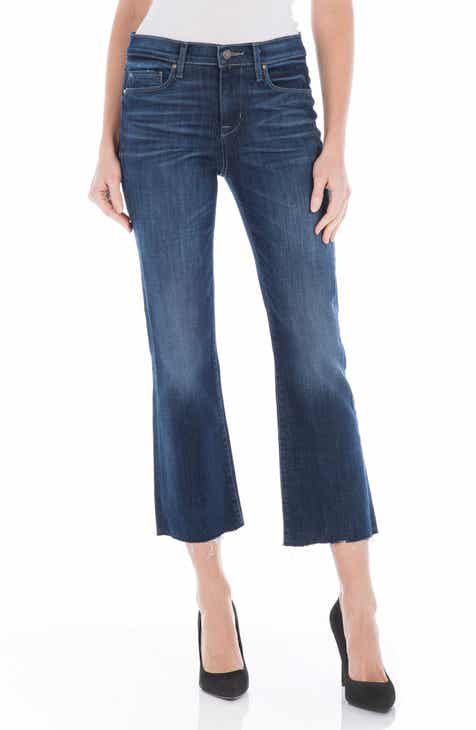 Fidelity Denim Hayden Crop Flare Jeans (Political Blue)
