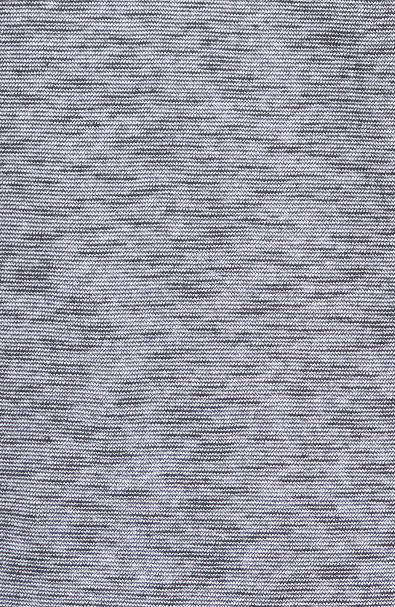 Ribbed Slub Cotton T-Shirt,                             Alternate thumbnail 5, color,                             Feeder Stripe Grey