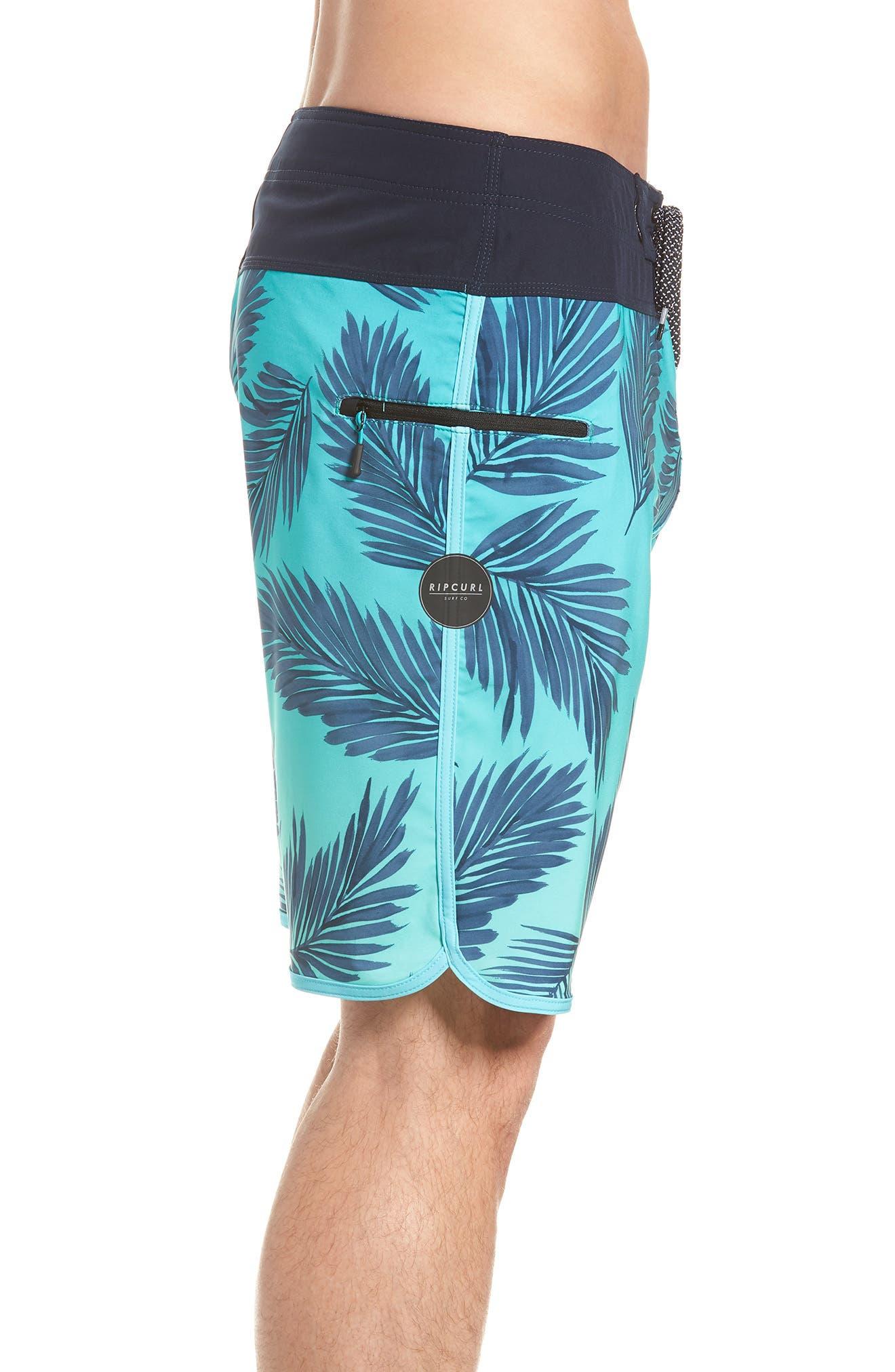 Mirage Mason Rockies Board Shorts,                             Alternate thumbnail 3, color,                             Teal