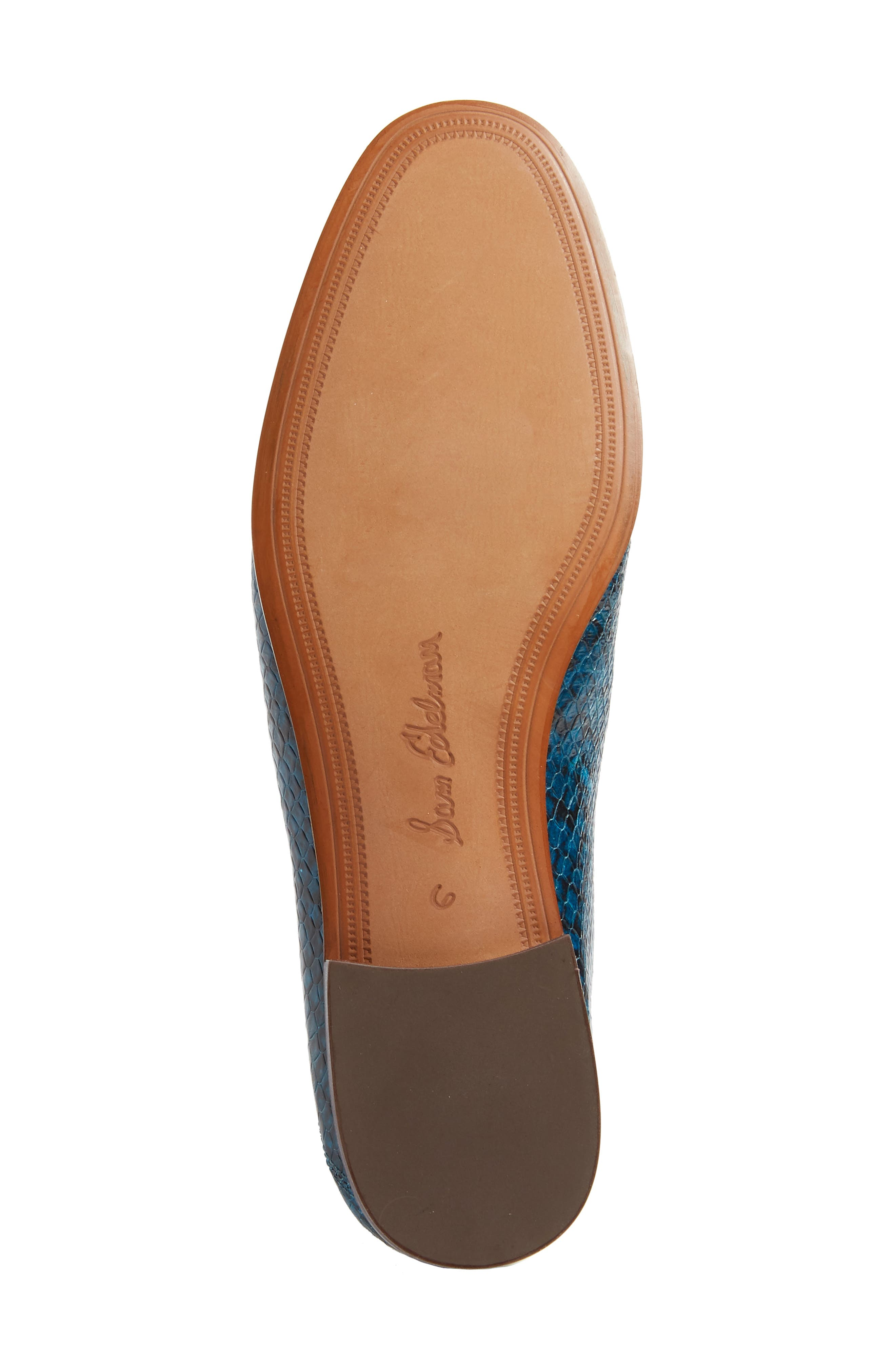 Lior Loafer,                             Alternate thumbnail 3, color,                             Peacock Blue Snake Print