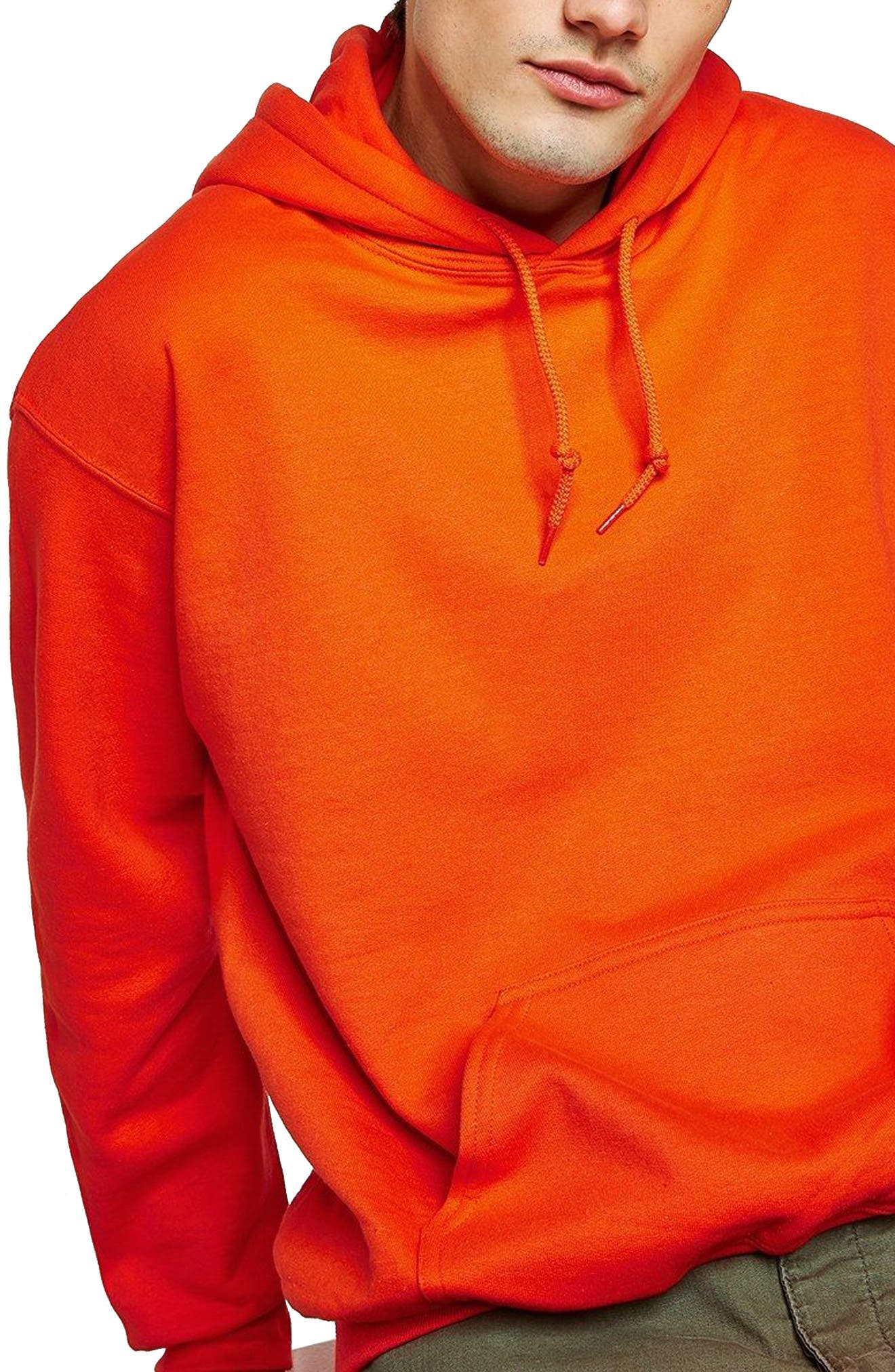 Classic Fit Gildan Pullover Hoodie,                             Main thumbnail 1, color,                             Orange