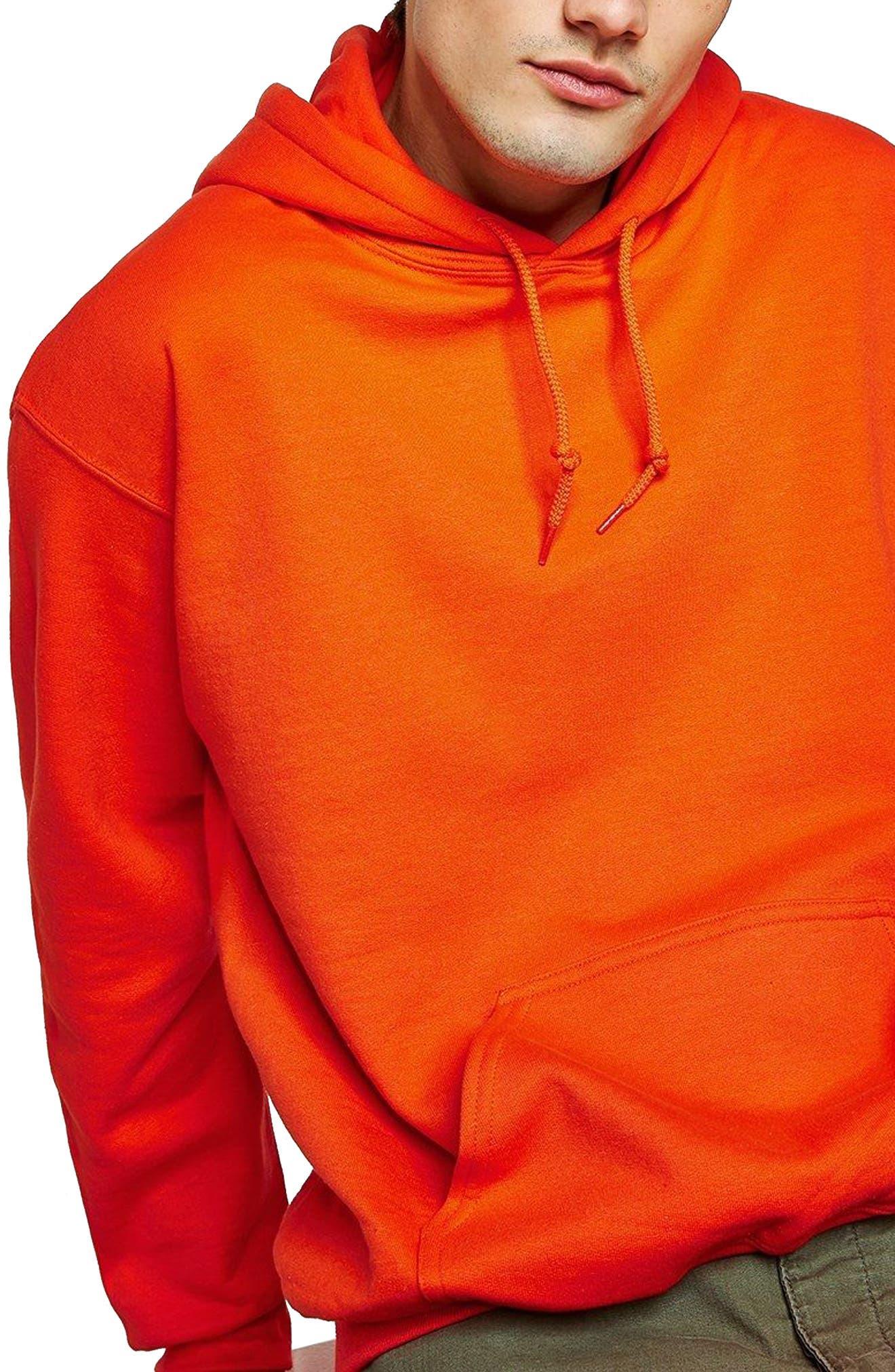 Classic Fit Gildan Pullover Hoodie,                         Main,                         color, Orange