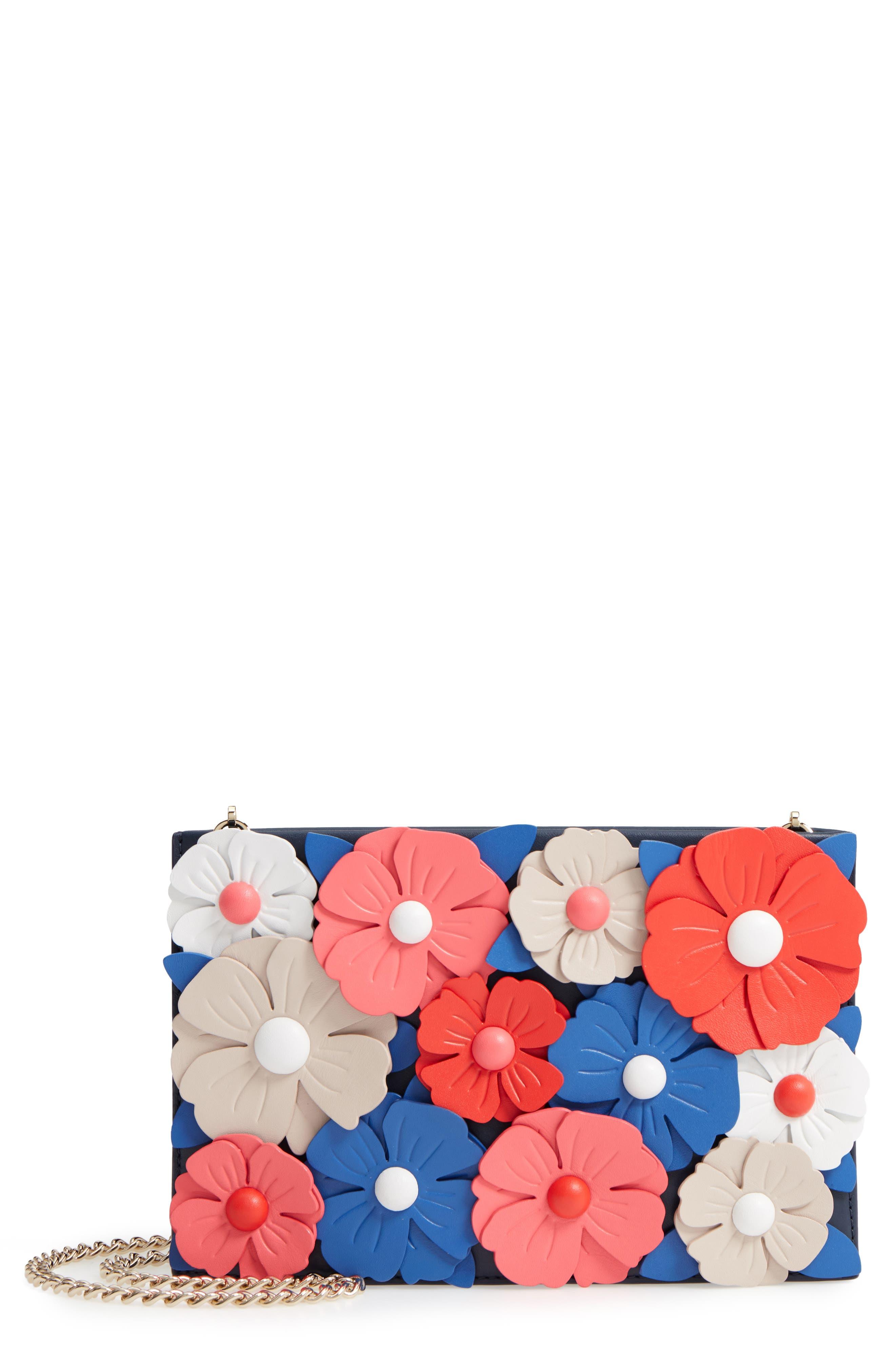 madison daisy lane - sima leather crossbody bag,                         Main,                         color, Blazer Blue Multi