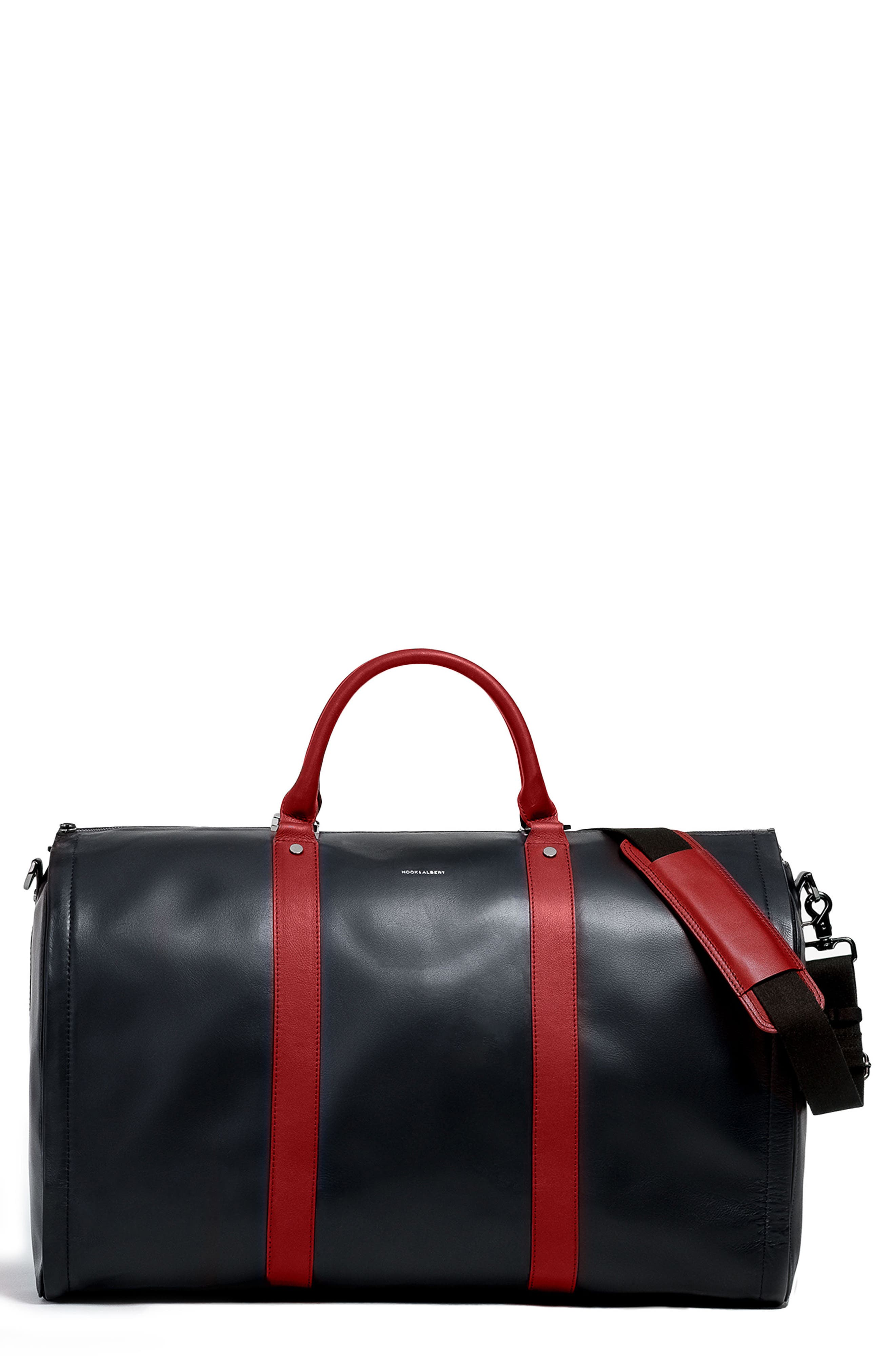 Garment Weekend Bag,                         Main,                         color, Red