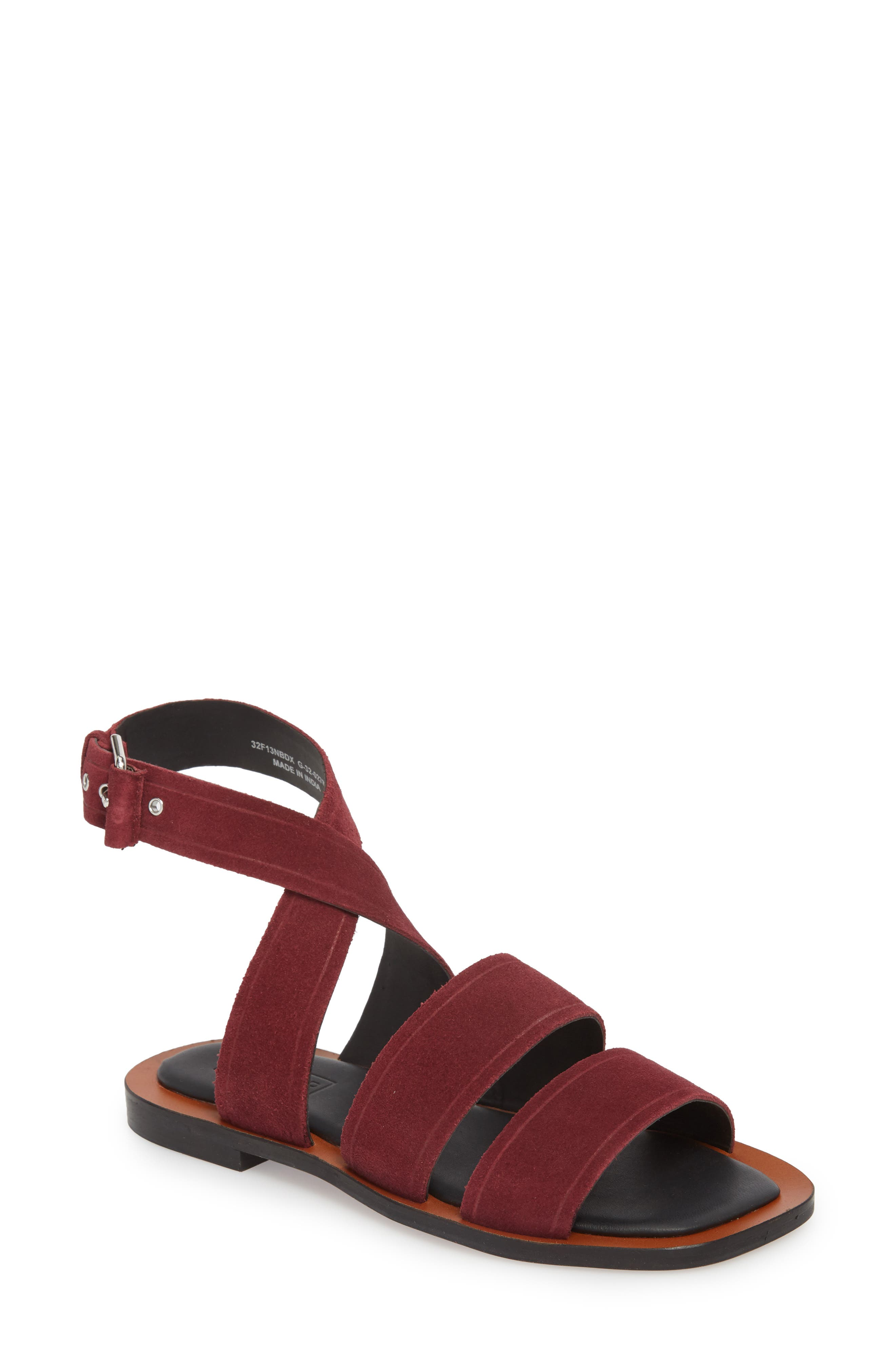 Fume Strappy Sandal,                             Main thumbnail 1, color,                             Burgundy Multi