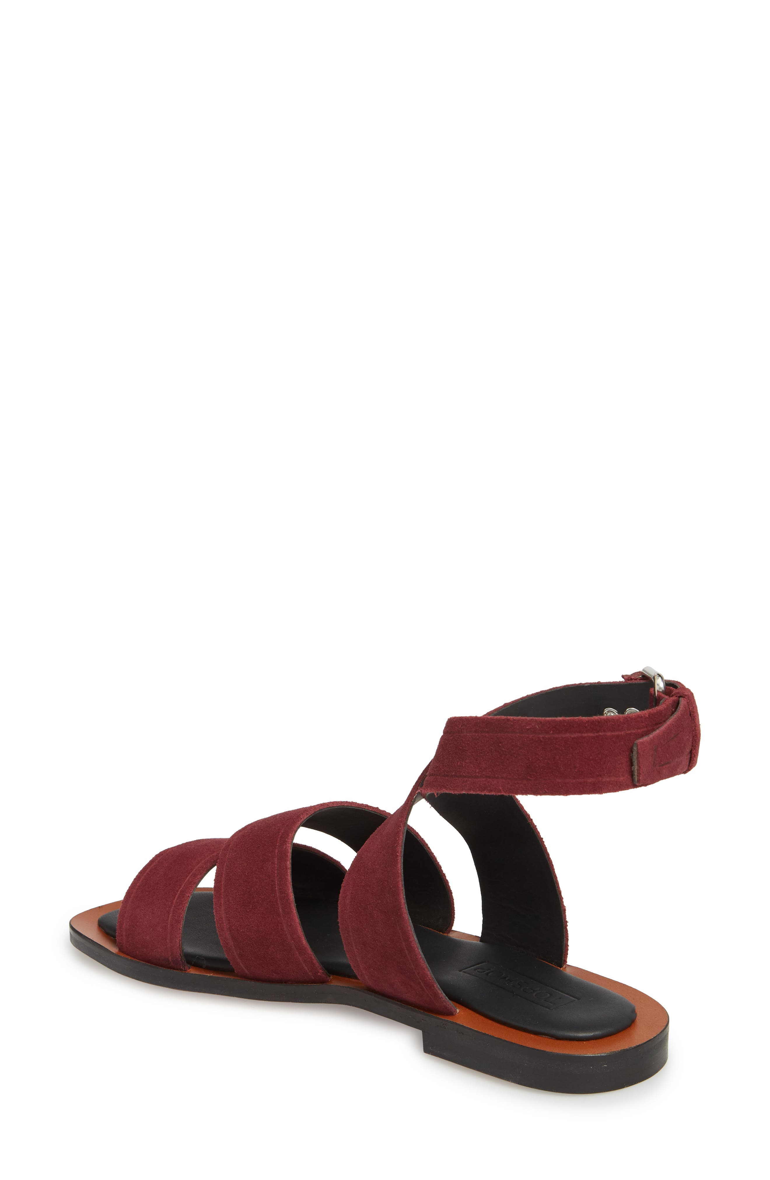 Fume Strappy Sandal,                             Alternate thumbnail 2, color,                             Burgundy Multi