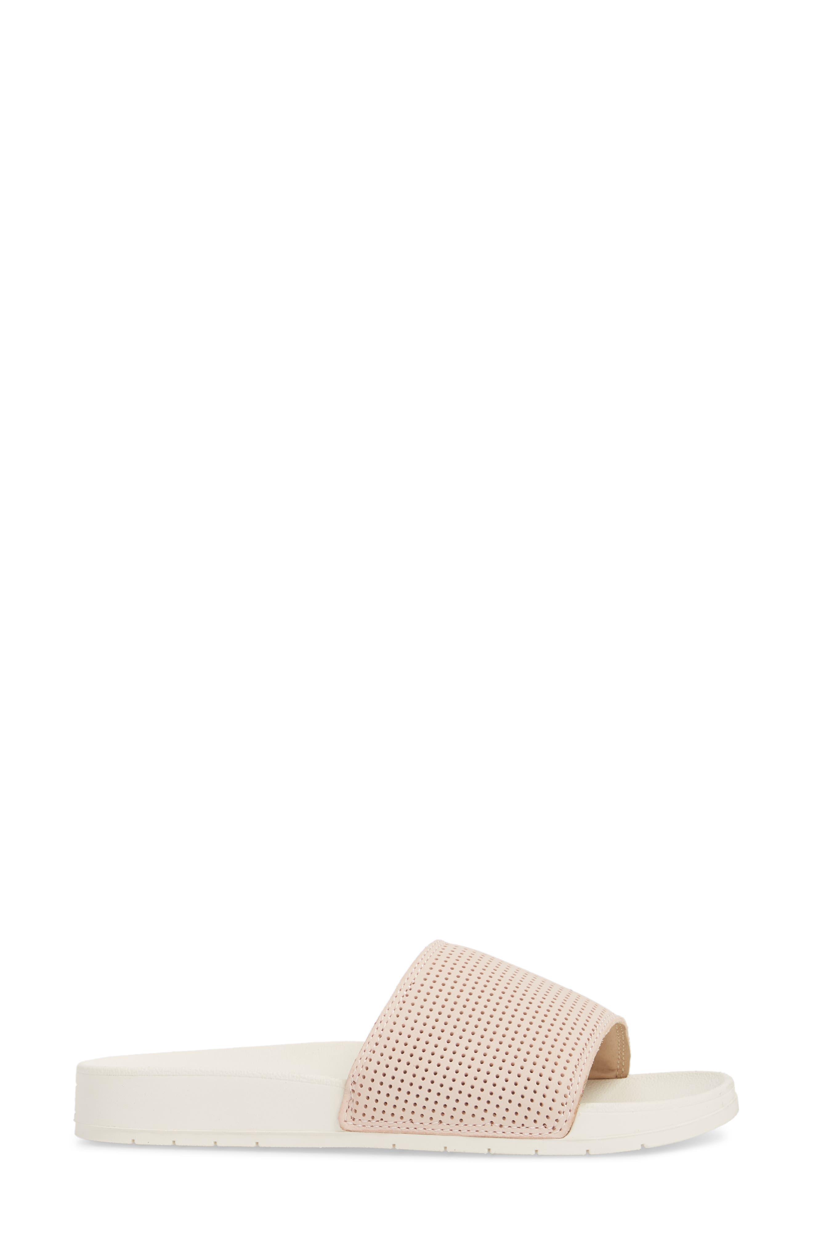 x Designlovefest Bliss Slide Sandal,                             Alternate thumbnail 3, color,                             Blush/ Cream