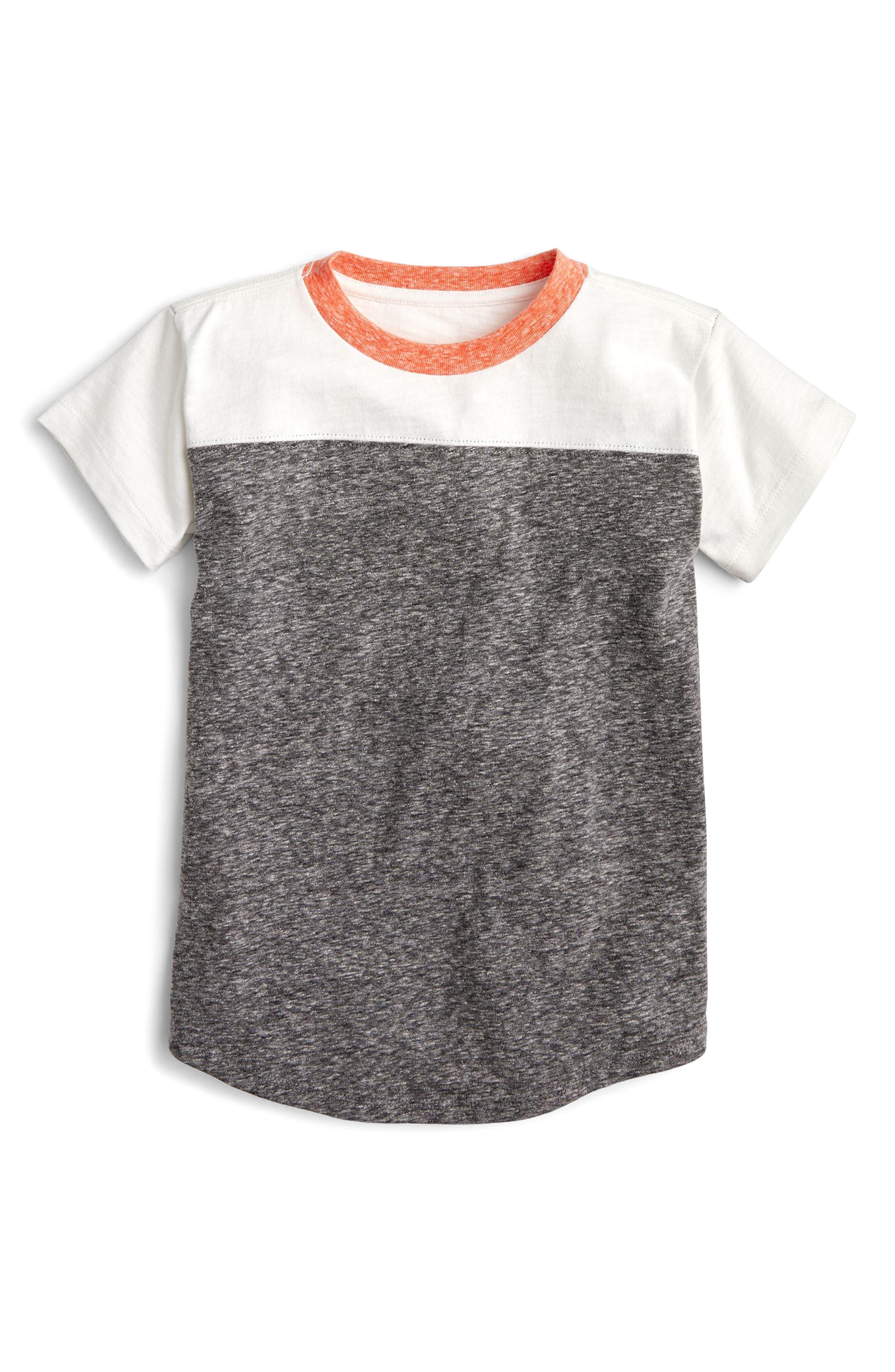 Colorblock Football T-Shirt,                             Main thumbnail 1, color,                             Dark Evening Multi