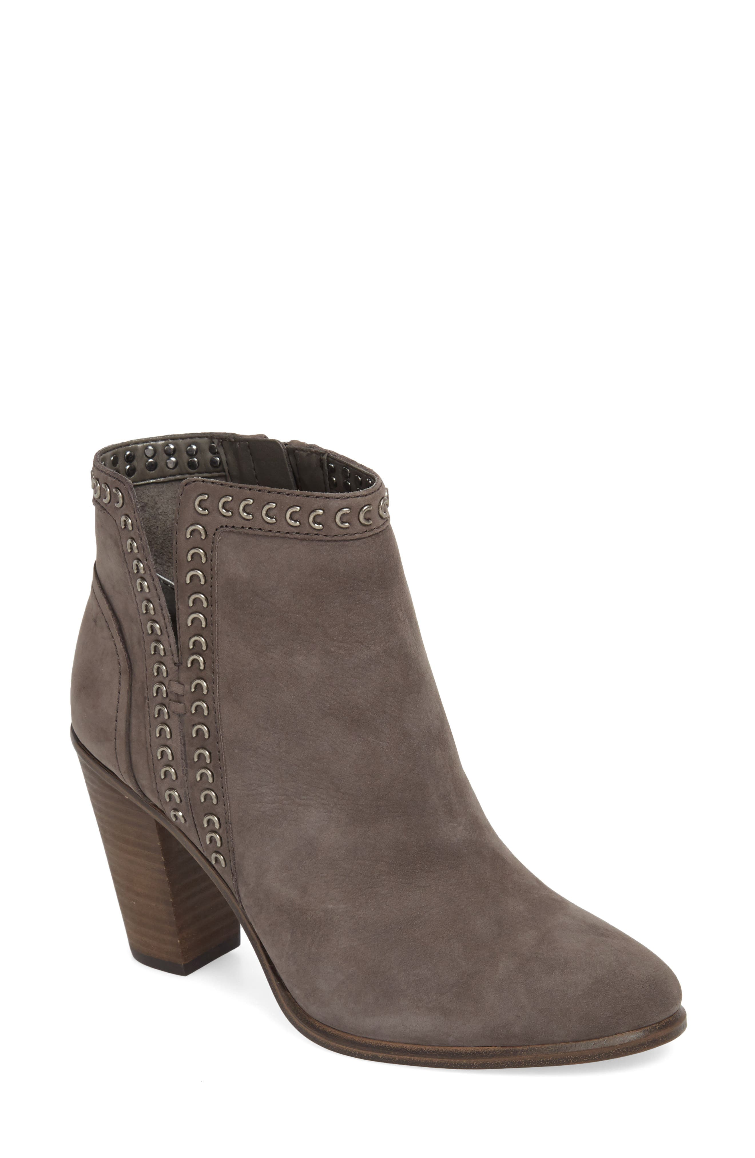 Finchie Bootie,                         Main,                         color, Greystone Leather