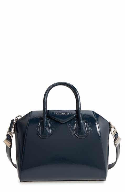 Givenchy Small Antigona Creased Patent Leather Satchel