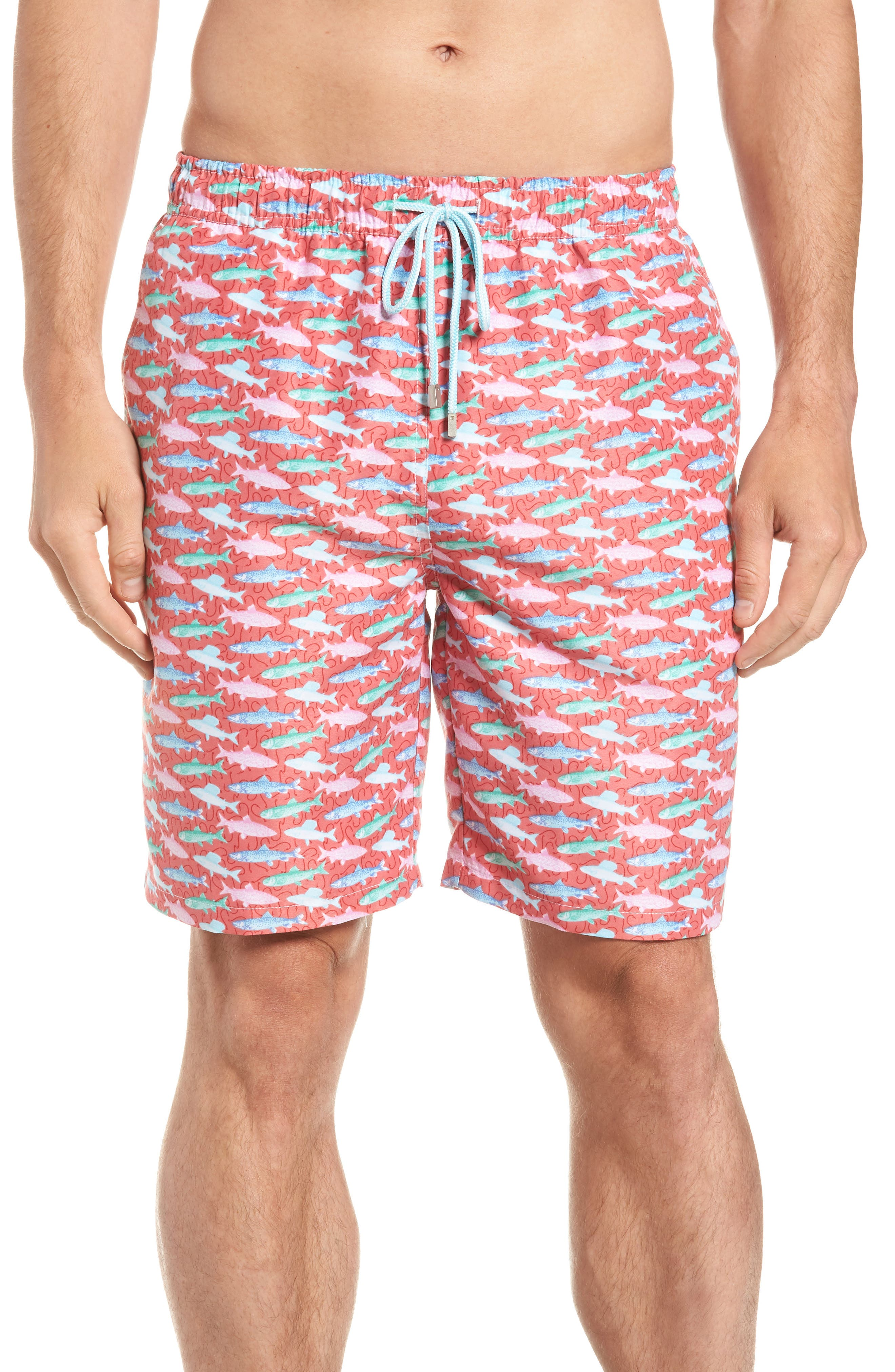 Fishermans Catch Swim Trunks,                             Main thumbnail 1, color,                             Cape Red