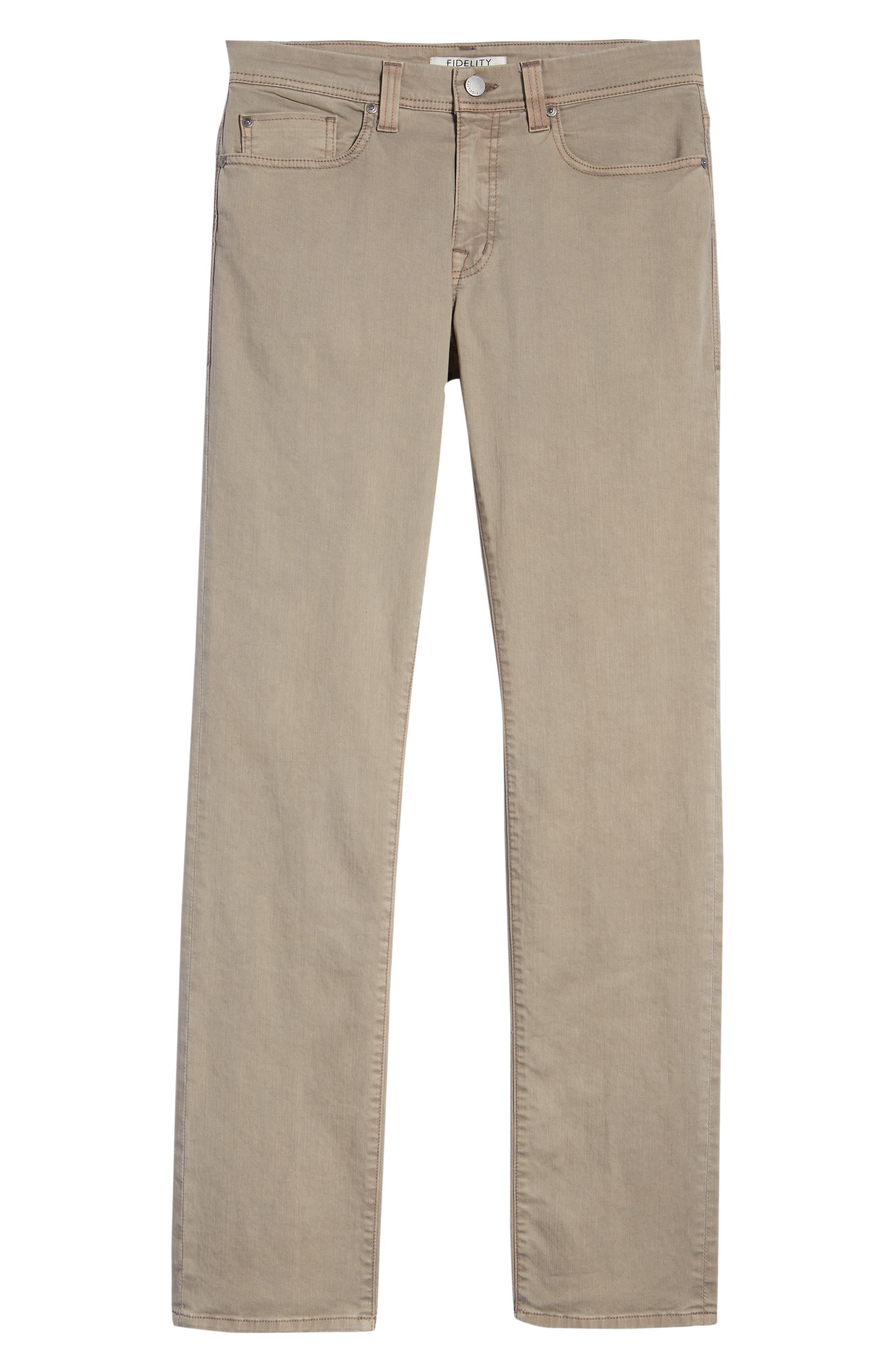 Jimmy Slim Straight Leg Jeans,                             Alternate thumbnail 6, color,                             Khaki