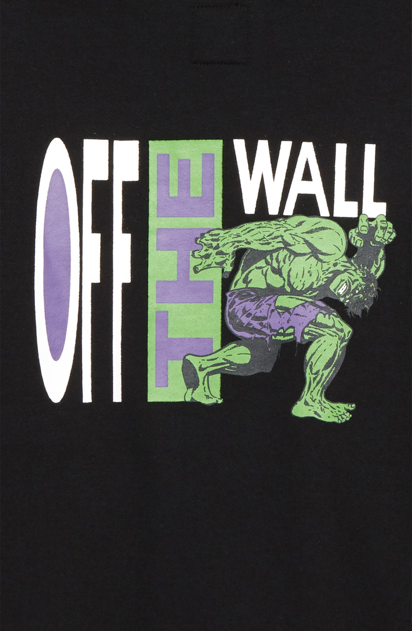 x Marvel<sup>®</sup> Avengers Hulk Hoodie,                             Alternate thumbnail 3, color,                             Black