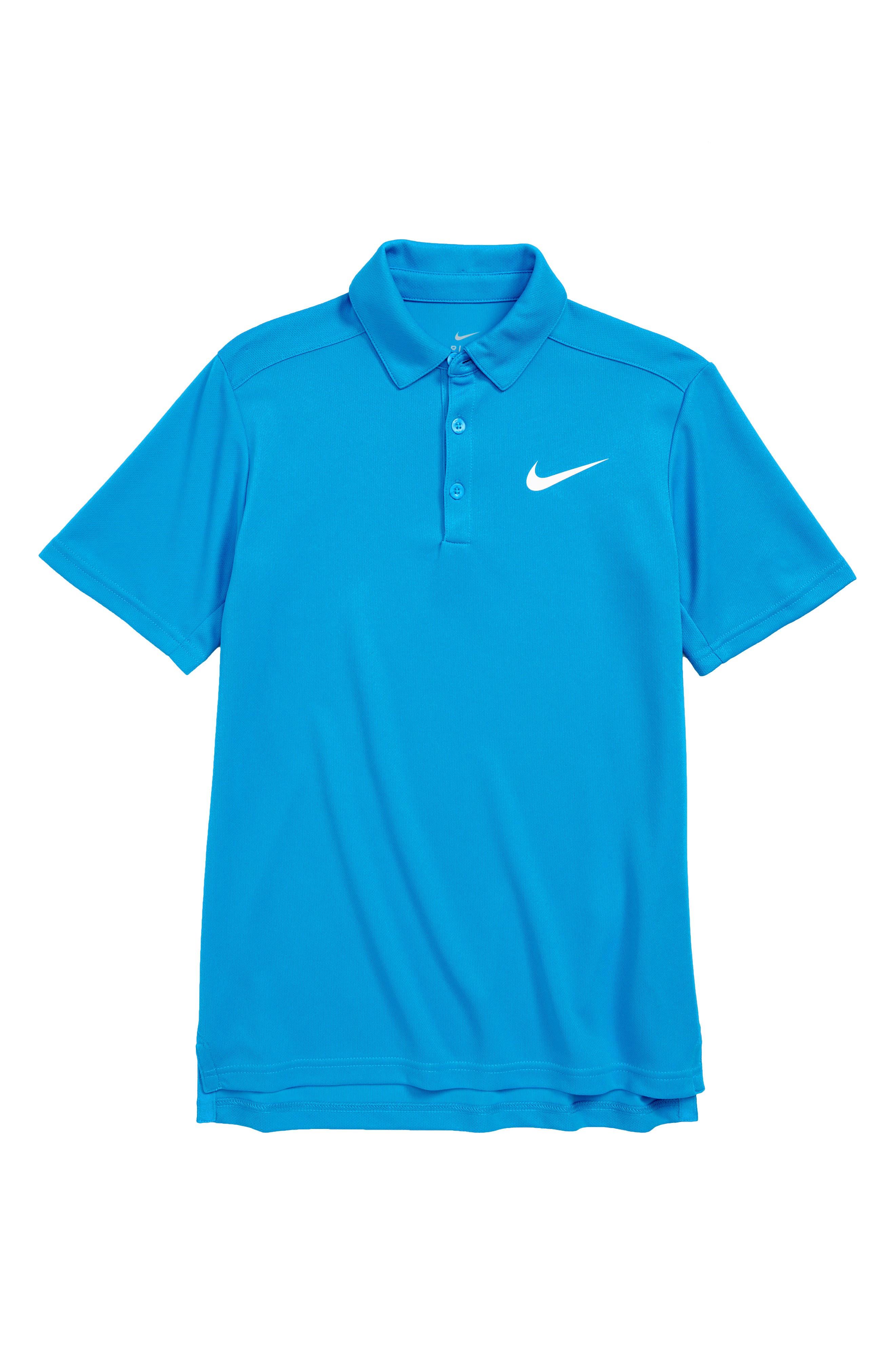 Dry Polo Shirt,                         Main,                         color, Equator Blue/ White