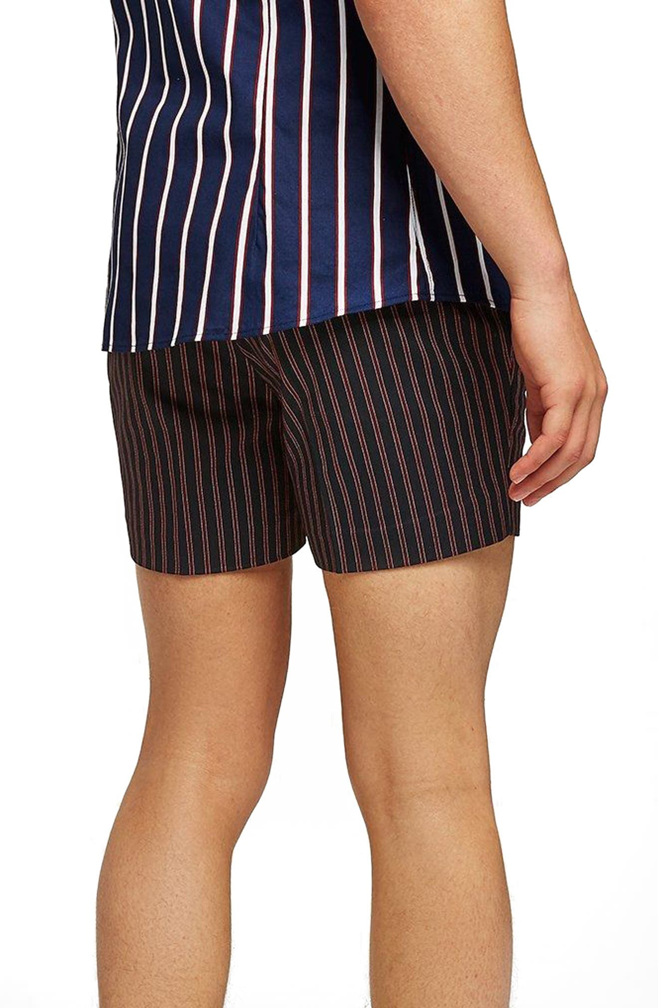 Stripe Shorts,                             Alternate thumbnail 2, color,                             Red