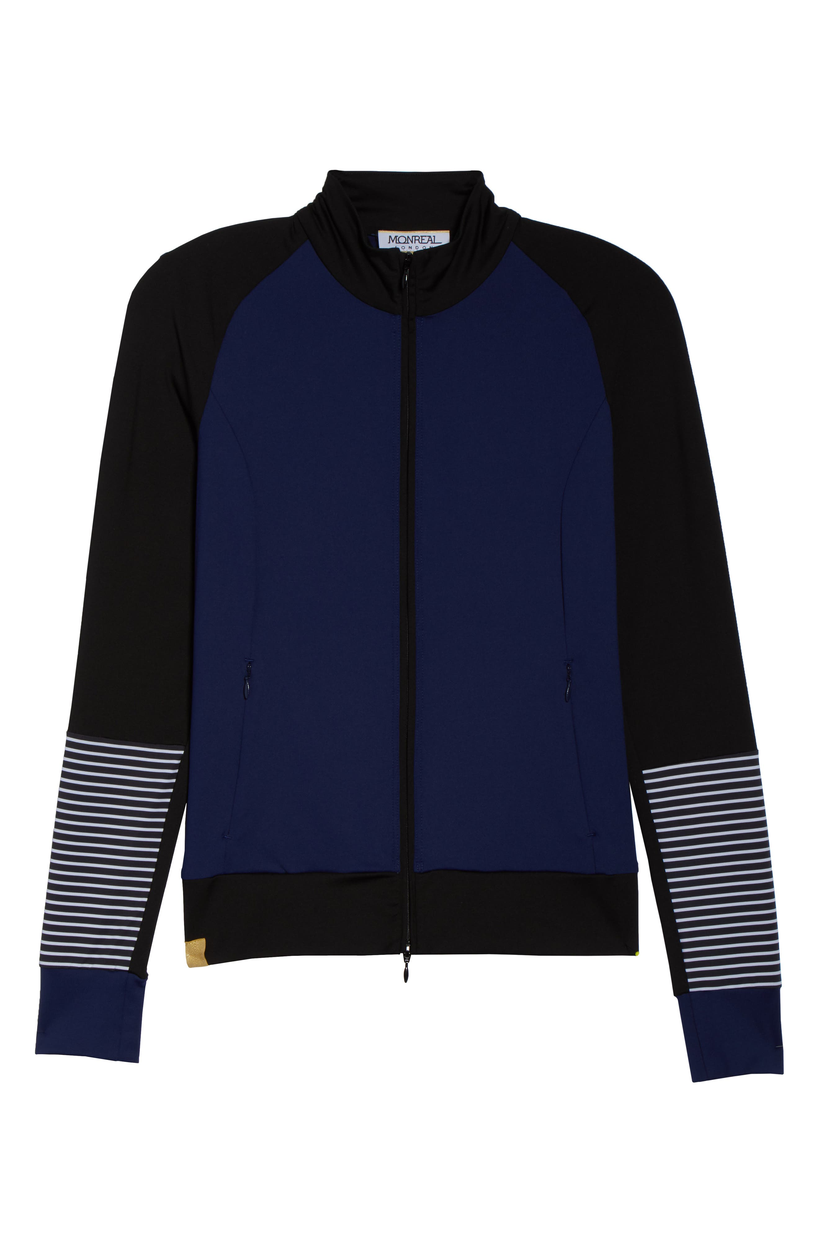 Featherweight Jacket,                             Alternate thumbnail 8, color,                             Indigo/ Stripe Print