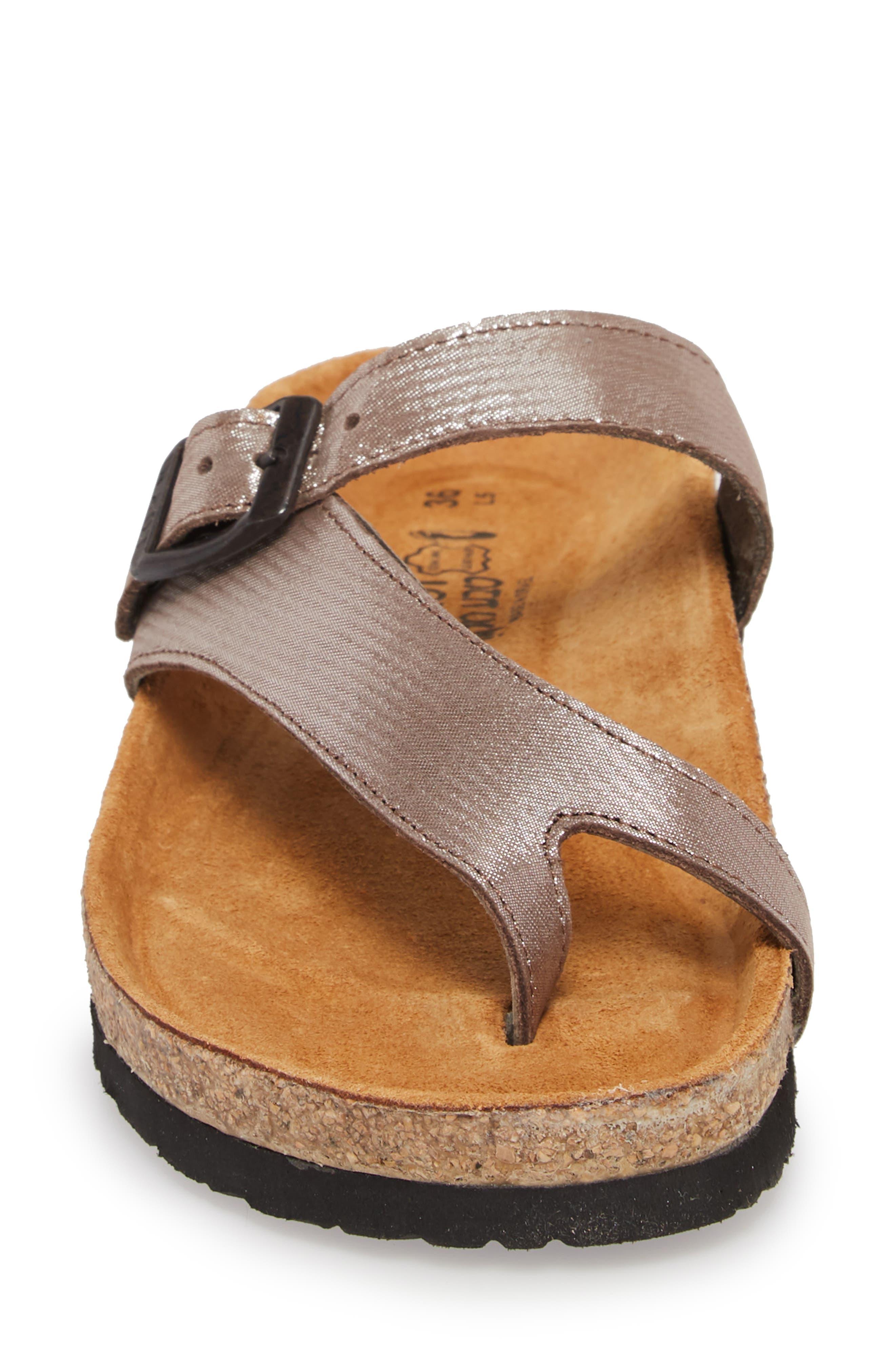 'Tahoe' Sandal,                             Alternate thumbnail 4, color,                             Silver Leather