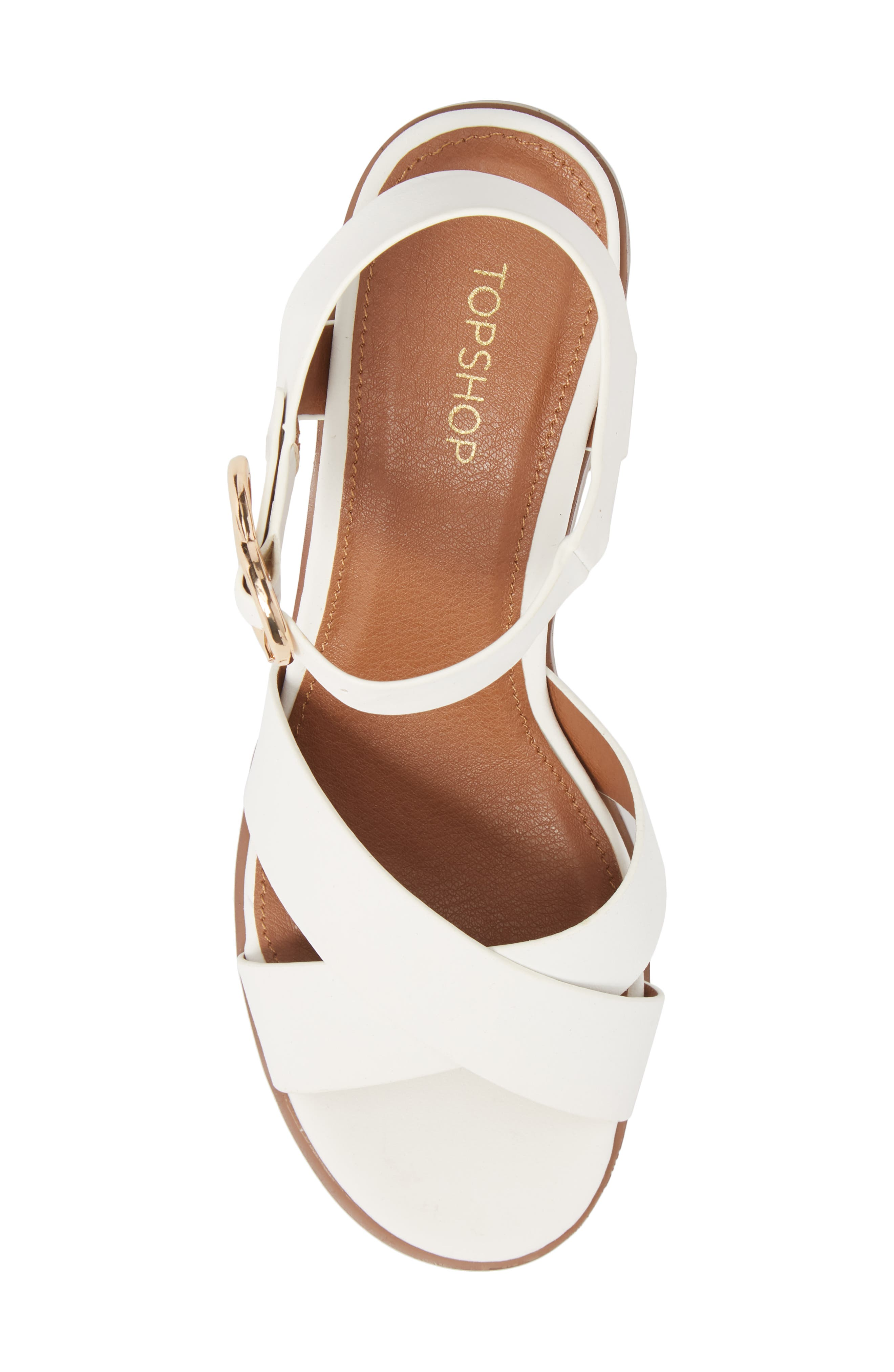 Dee Dee Block Heel Sandal,                             Alternate thumbnail 5, color,                             White Multi