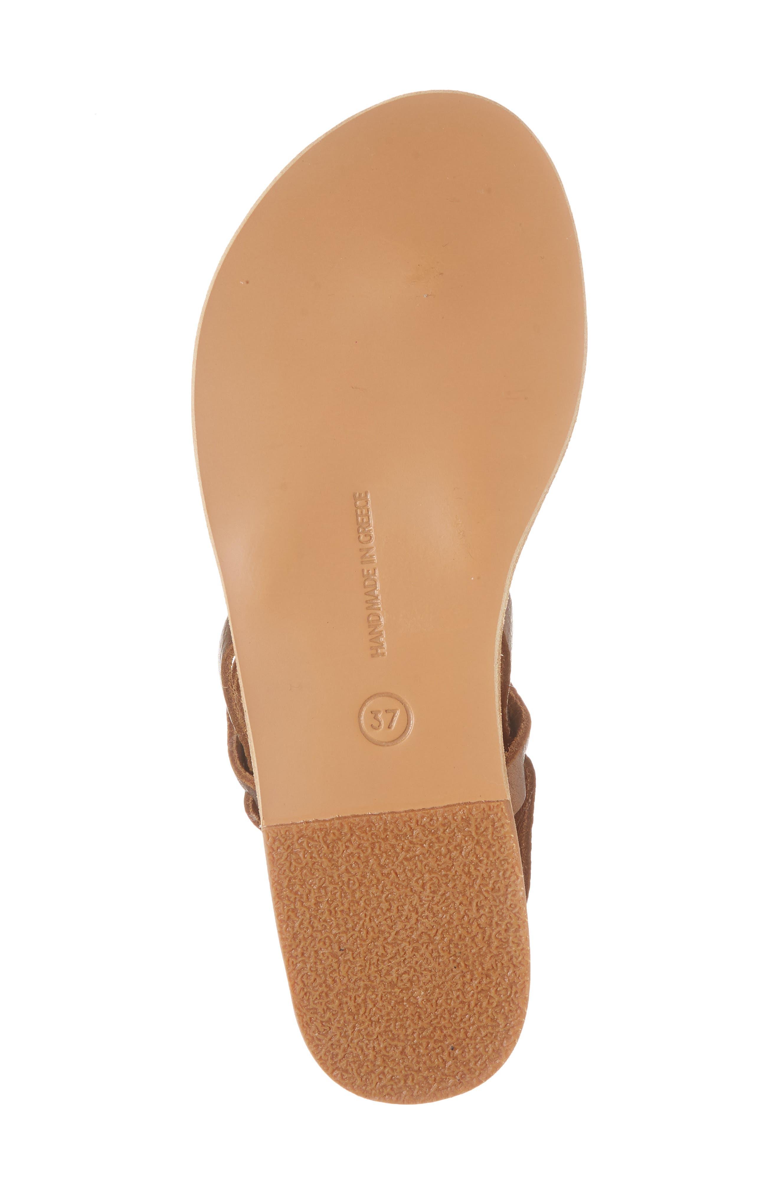 Estia Ankle Wrap Sandal,                             Alternate thumbnail 6, color,                             Bronze/ Cocco