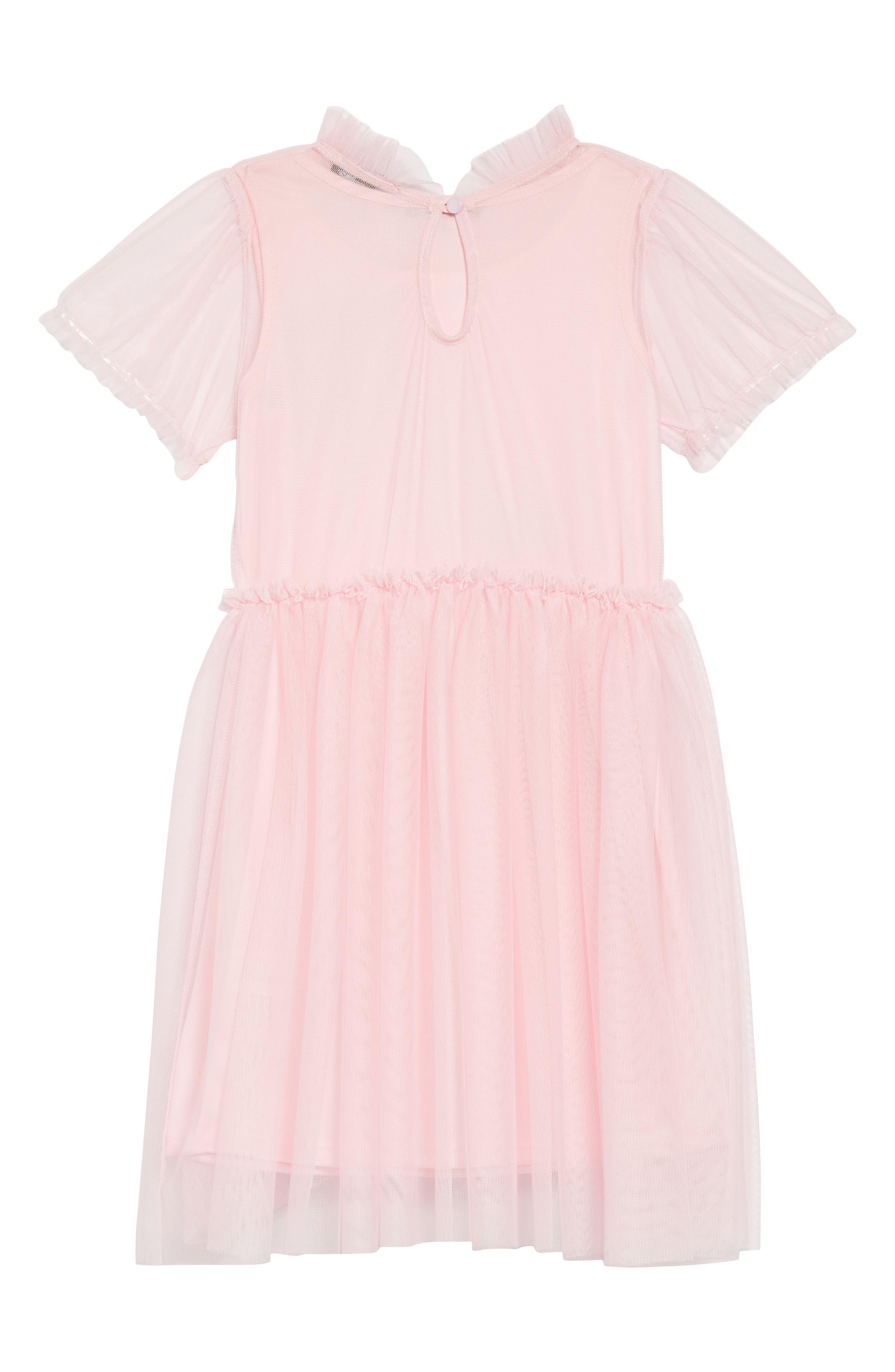 Embellished Tulle Dress,                             Alternate thumbnail 2, color,                             Pink
