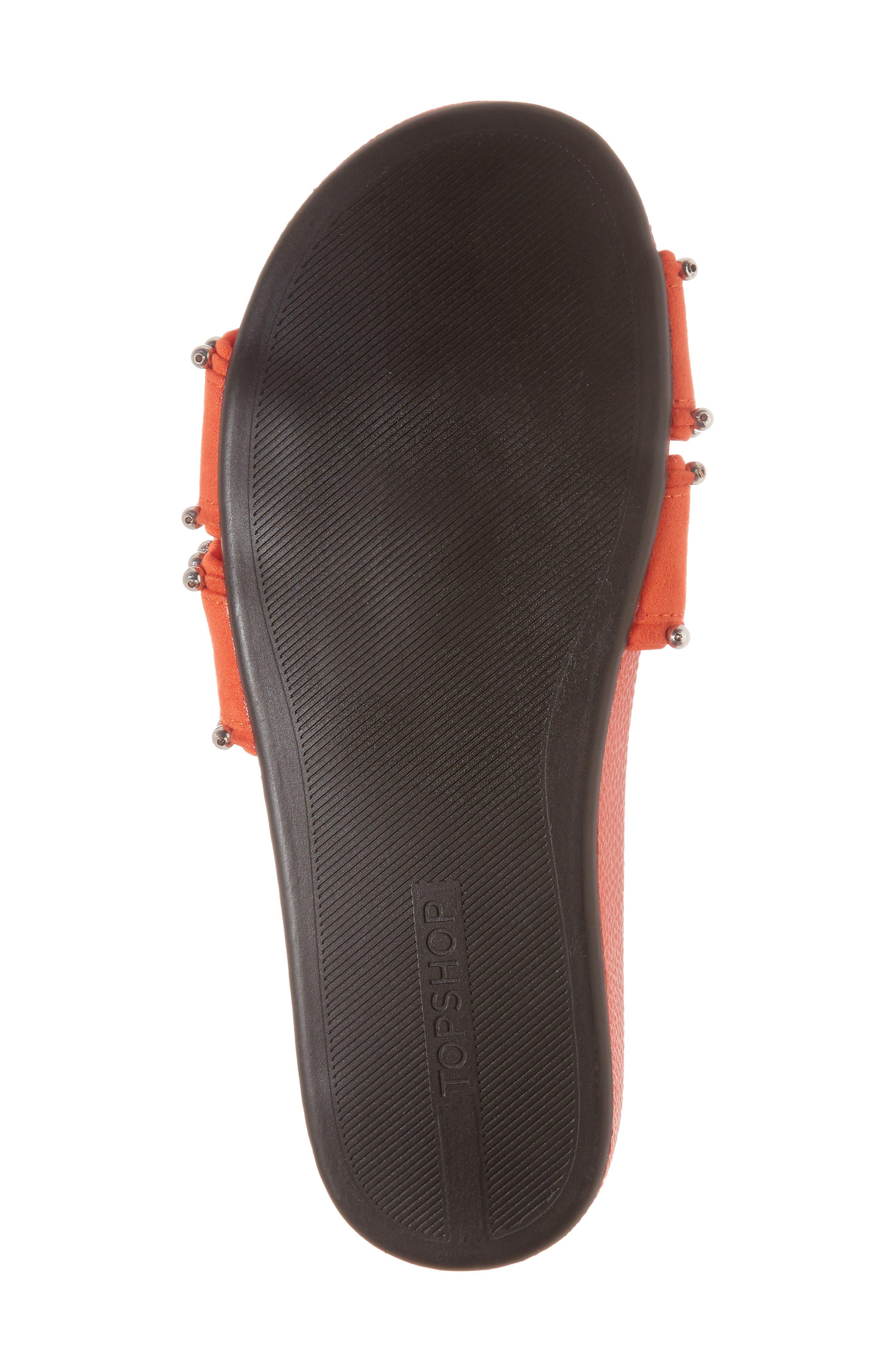 Rascal Studded Slide Sandal,                             Alternate thumbnail 6, color,                             Red