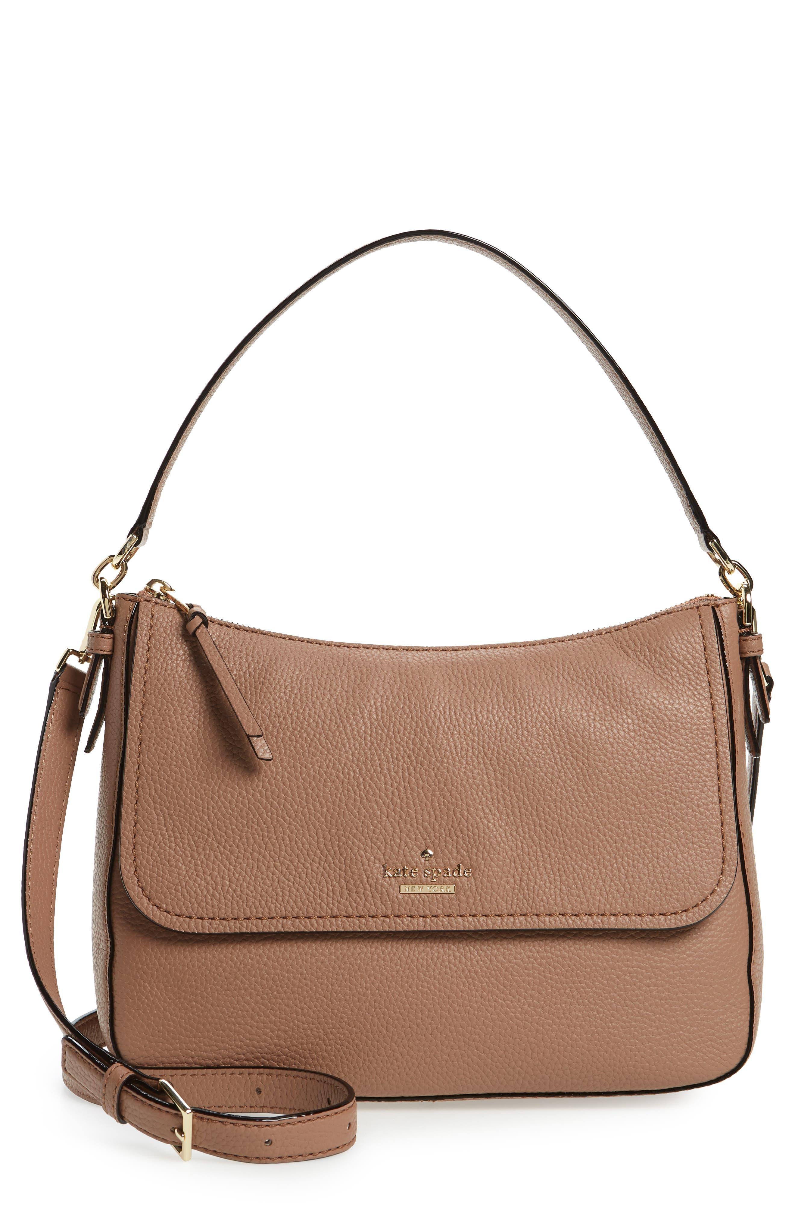 jackson street - colette leather satchel,                             Main thumbnail 1, color,                             Toasty