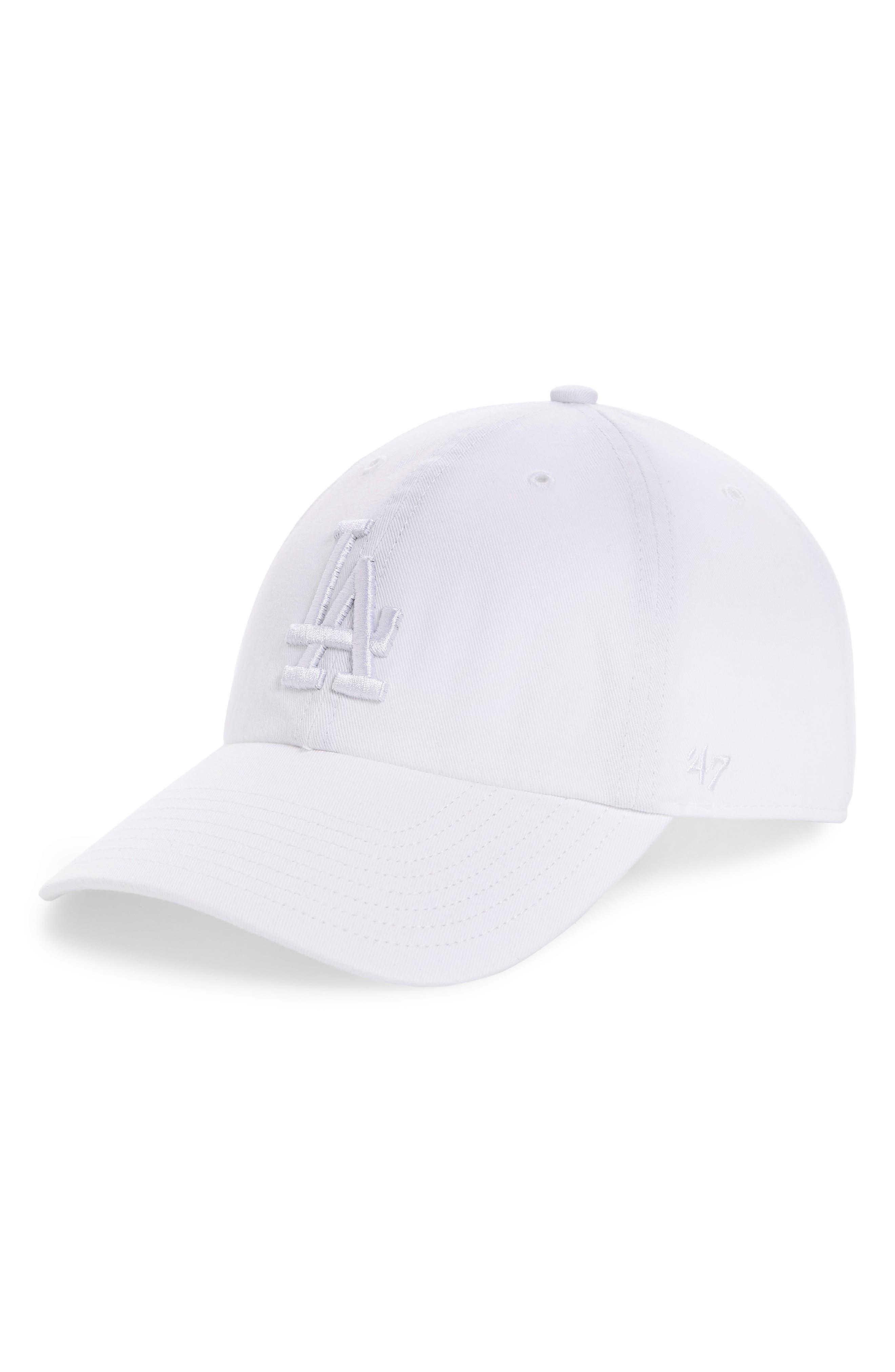 Clean Up LA Dodgers Baseball Cap,                         Main,                         color, White
