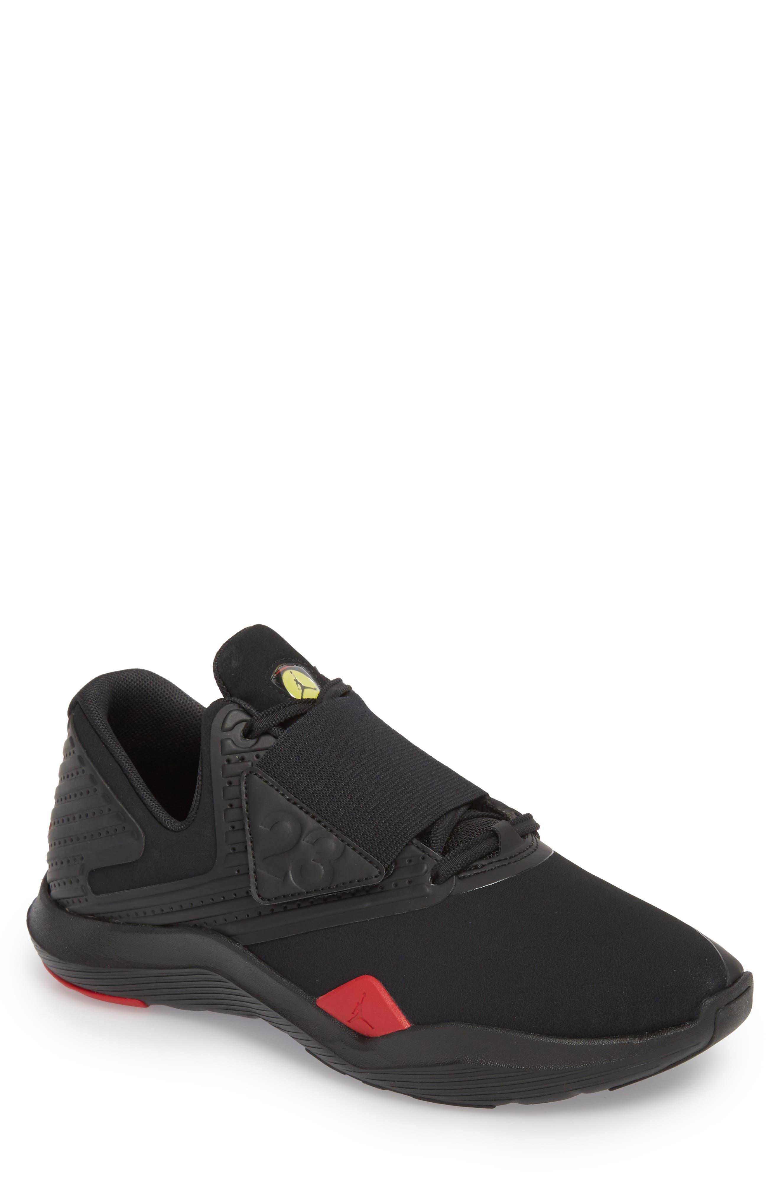 Air Jordan Relentless Training Sneaker,                             Main thumbnail 1, color,                             Black/ Varsity Red/ Dandelion