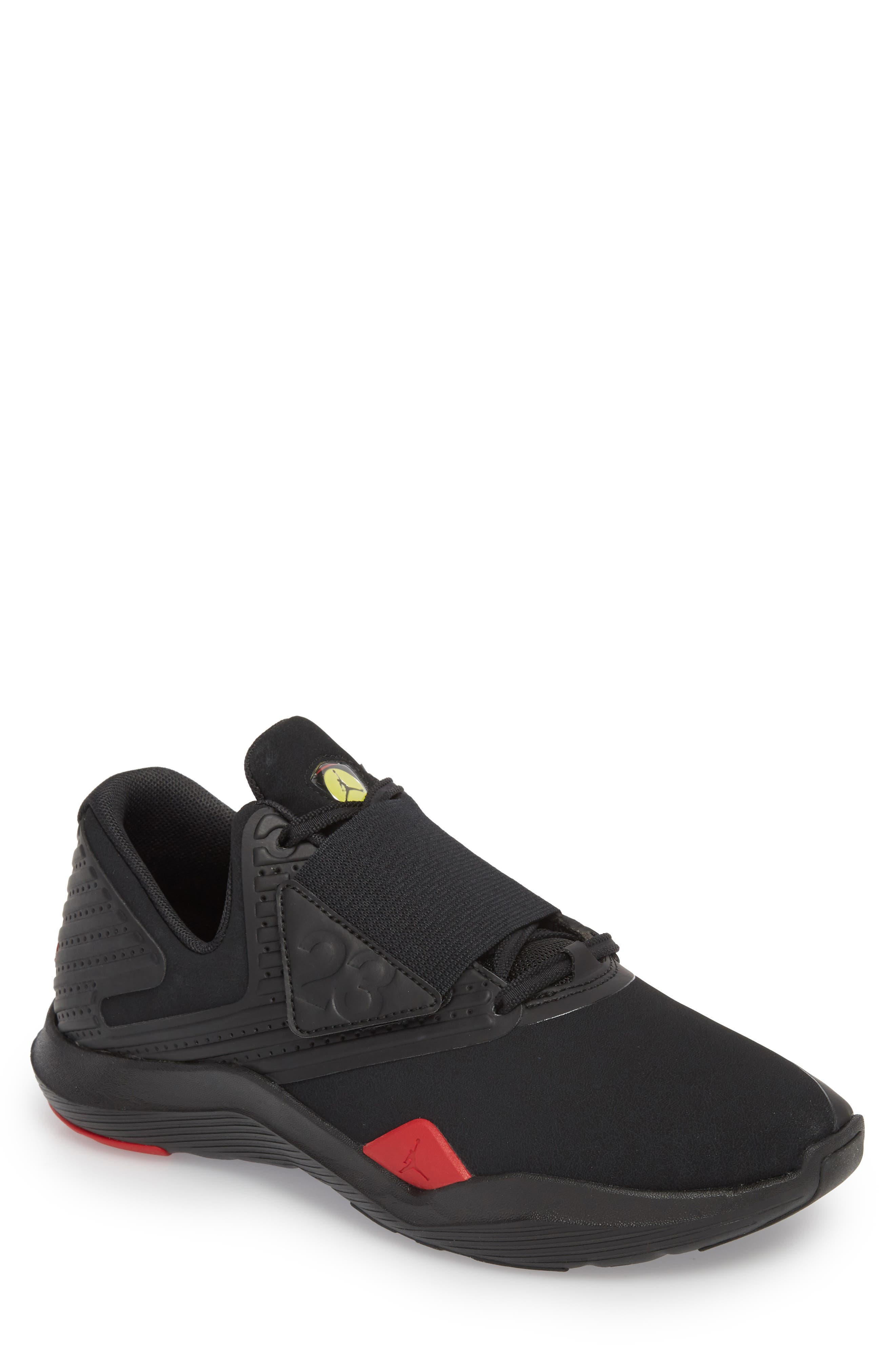 Air Jordan Relentless Training Sneaker,                         Main,                         color, Black/ Varsity Red/ Dandelion