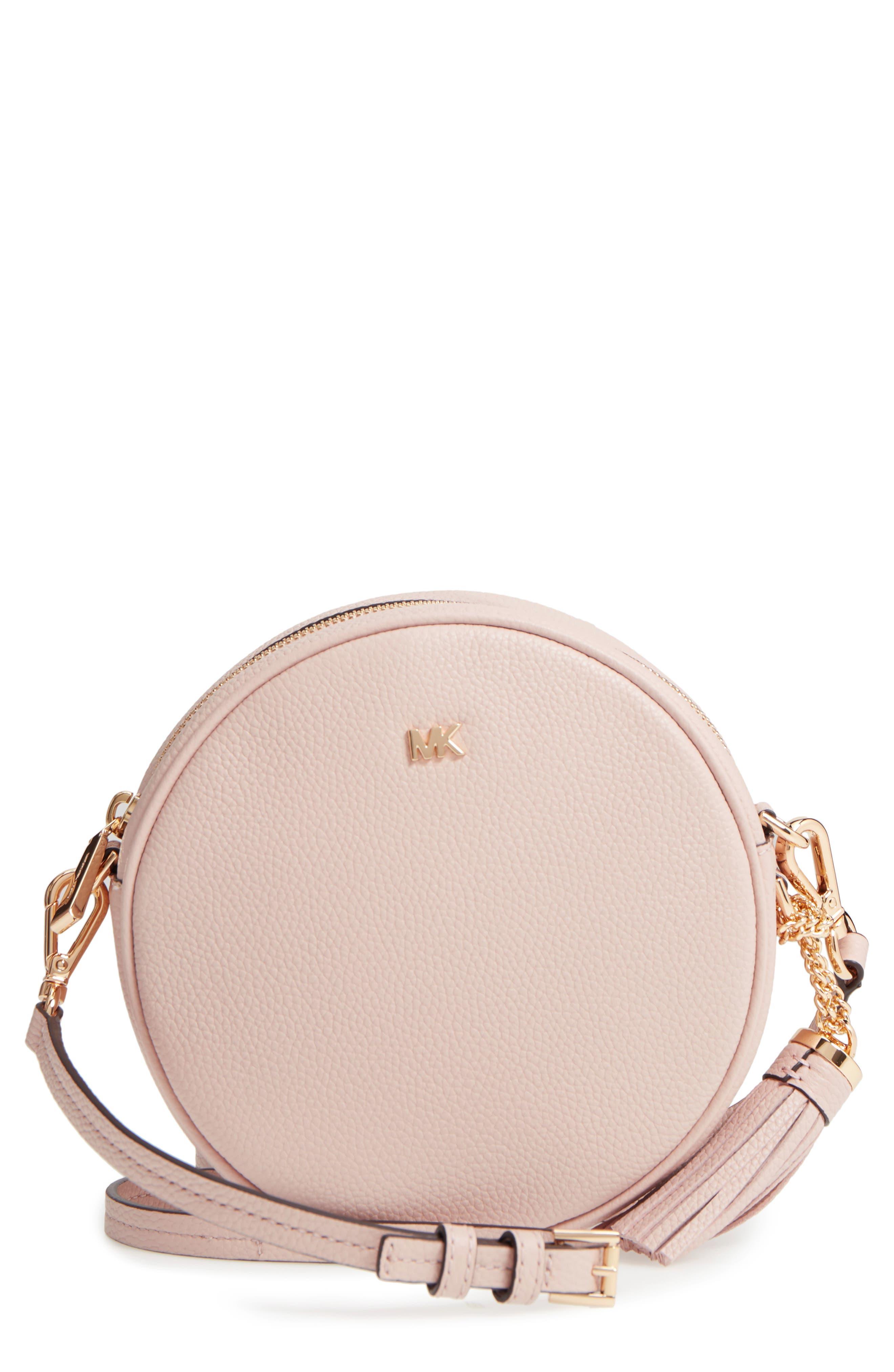 Medium Leather Canteen Bag,                         Main,                         color, Soft Pink