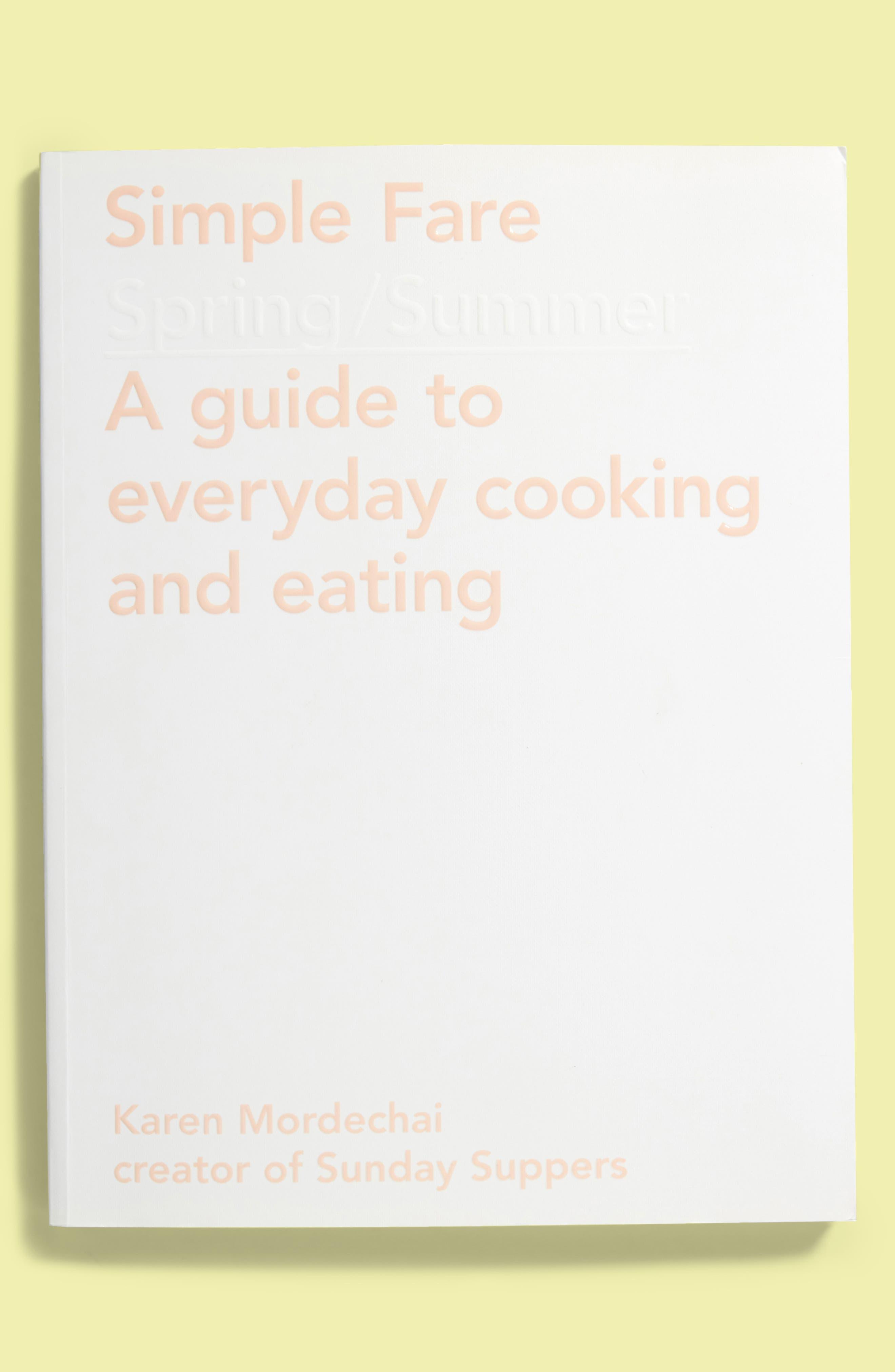 'Simple Fare: Spring/Summer' Cookbook,                         Main,                         color, White